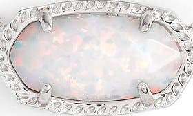 White Kyocera Opal/ Silver swatch image