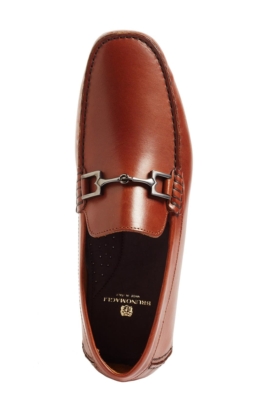 'Monza' Driving Shoe,                             Alternate thumbnail 3, color,                             Cognac Leather