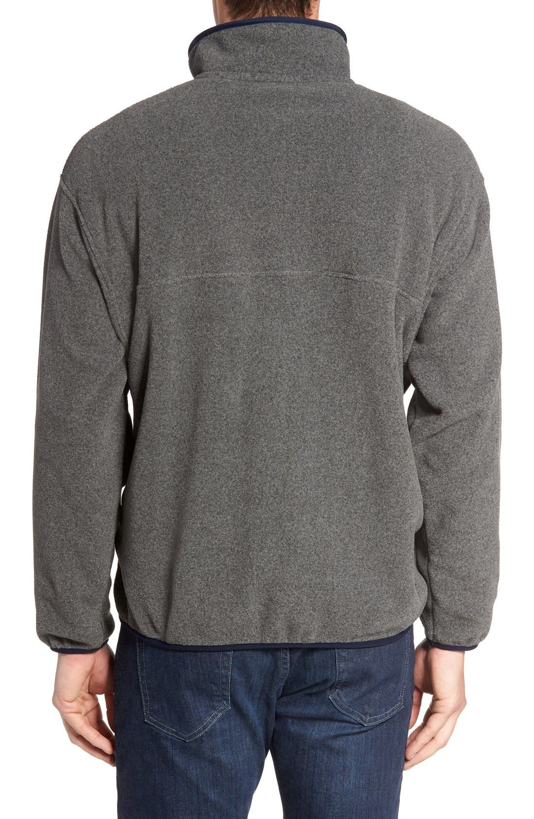 Synchilla<sup>®</sup> Snap-T<sup>®</sup> Pullover,                             Alternate thumbnail 4, color,                             Nickel/ Navy Blue