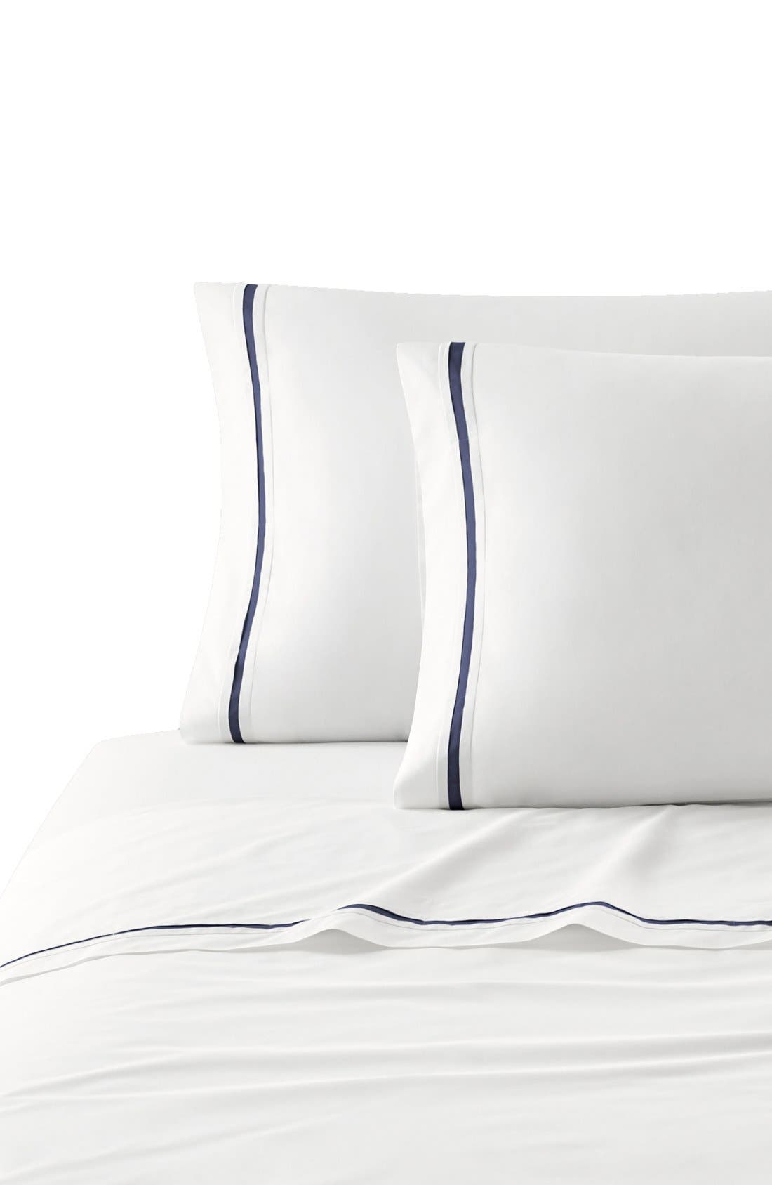 Torino Pillowcases,                             Main thumbnail 1, color,                             Navy