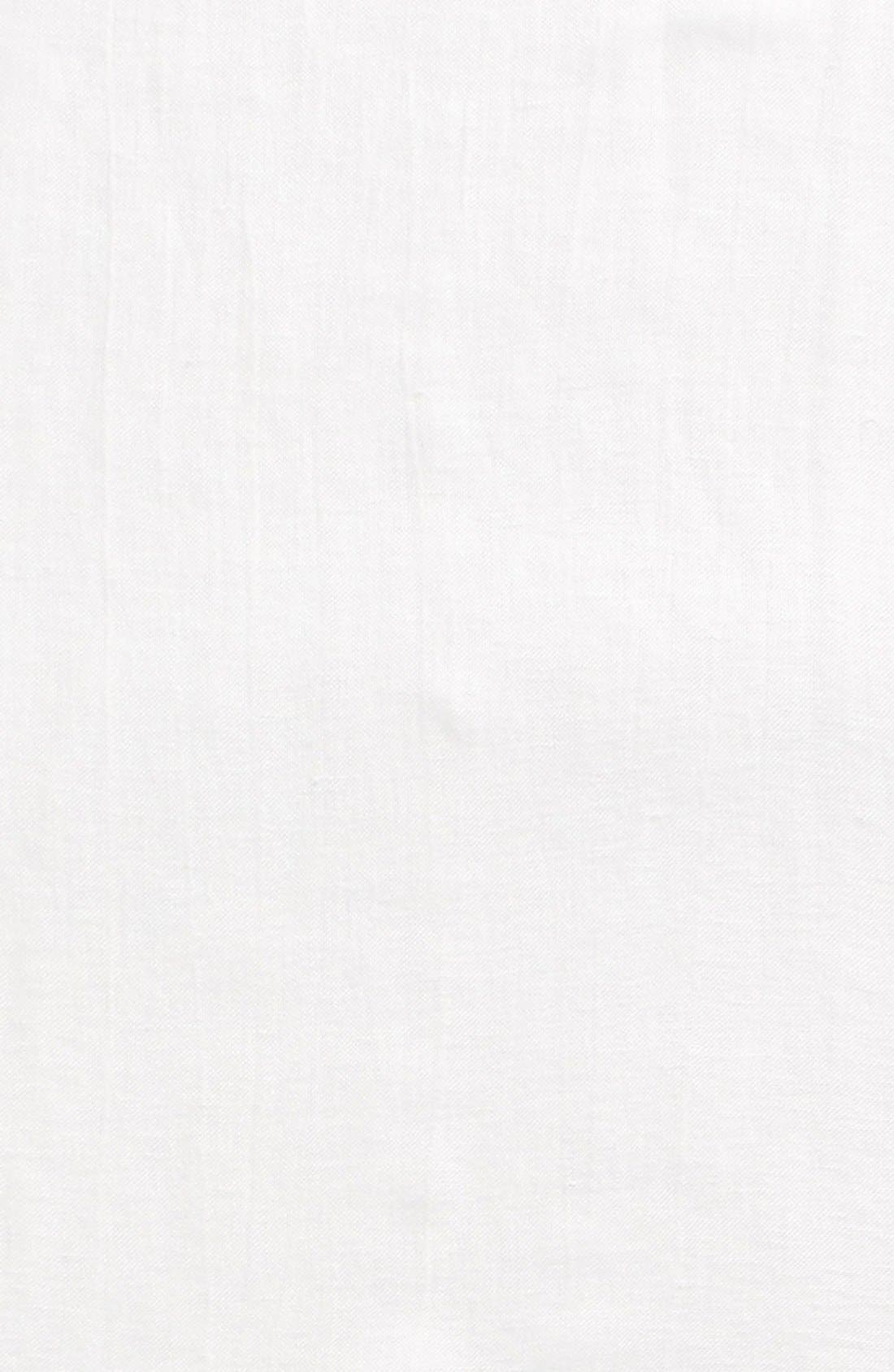 Linen Blend Scarf,                             Alternate thumbnail 4, color,                             White
