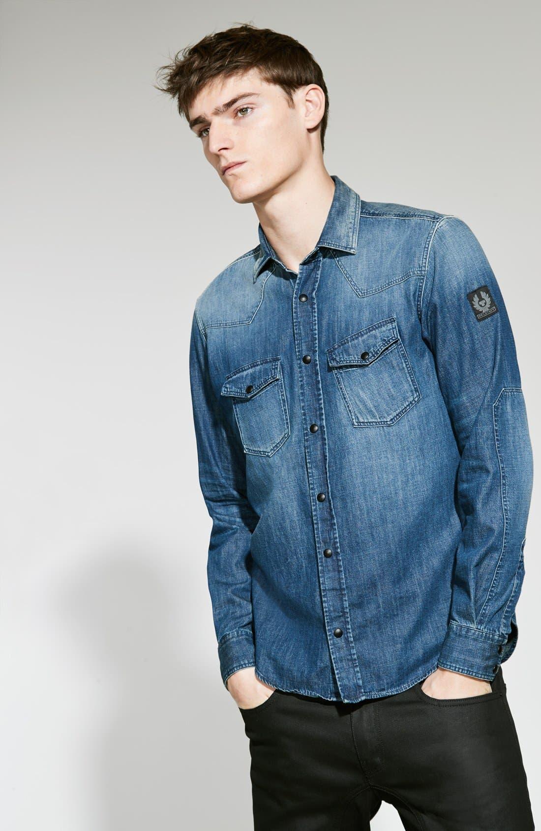 Alternate Image 7  - Belstaff Westham Raw Stretch Denim Moto Jeans