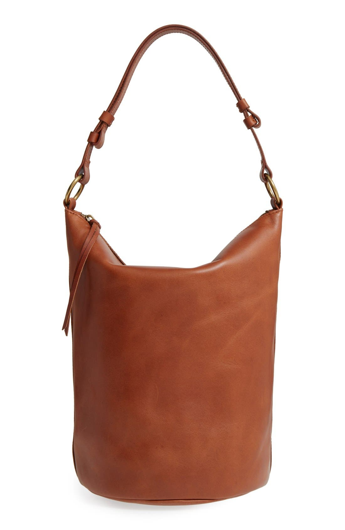 Alternate Image 1 Selected - Madewell O-Ring Leather Bucket Bag