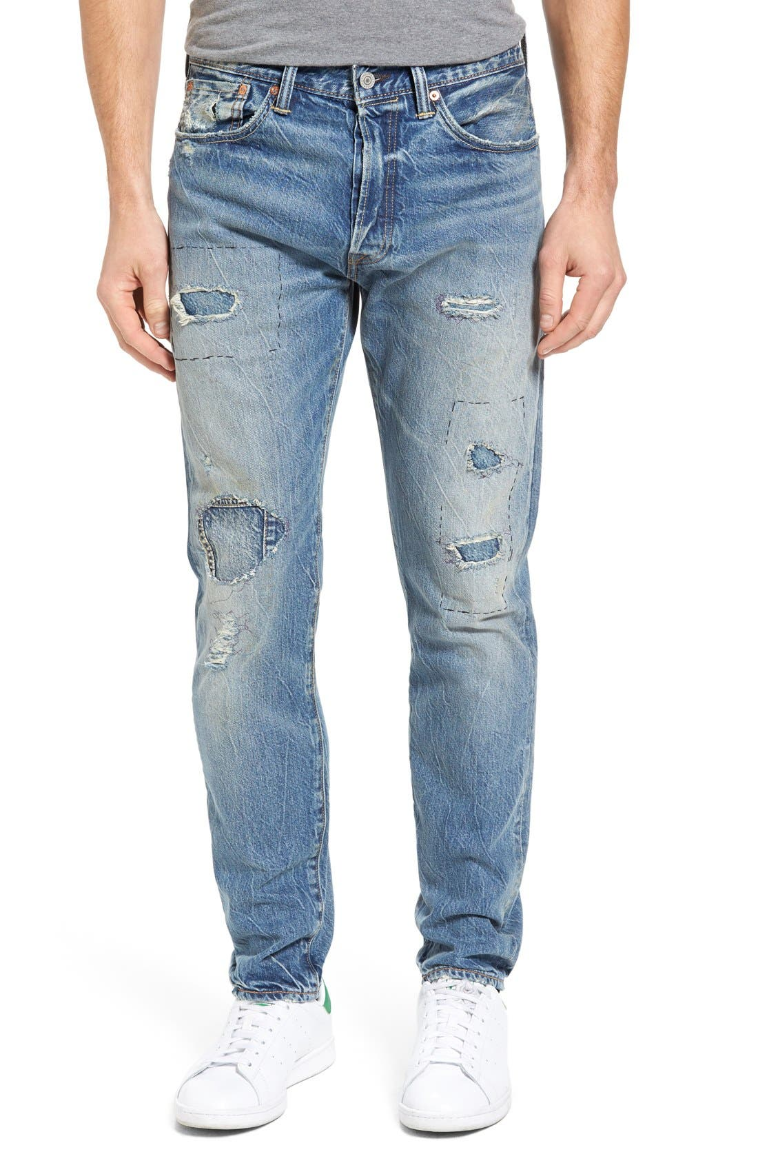 Levi's® 501™ CT Custom Tapered Fit Jeans (Selvedge Peavy)