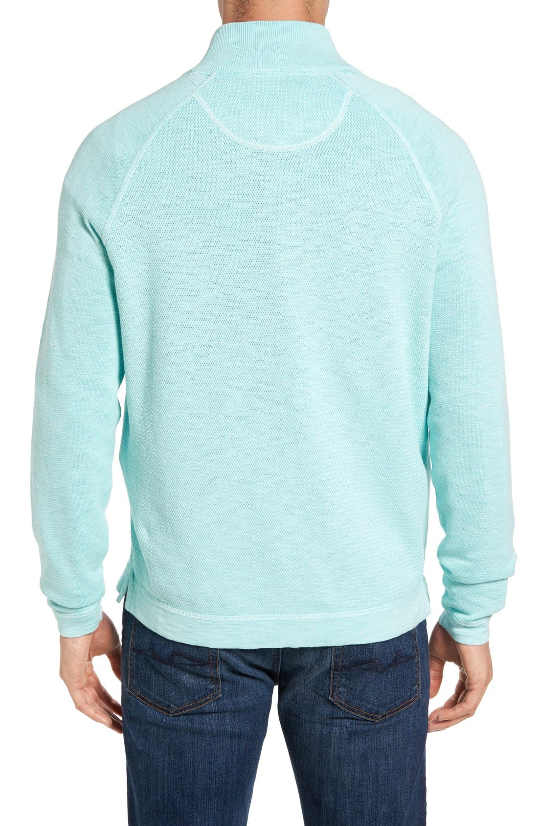 Saltwater Tide Half Zip Pullover,                             Alternate thumbnail 2, color,                             Aquarius