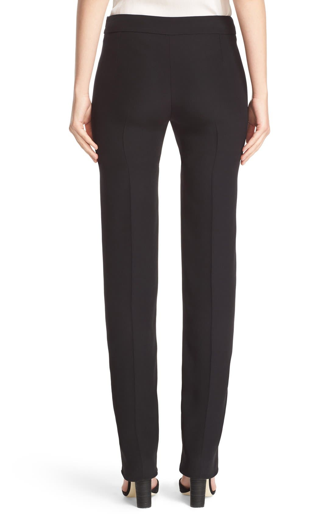 Side Zip Cady Pants,                             Alternate thumbnail 2, color,                             Black