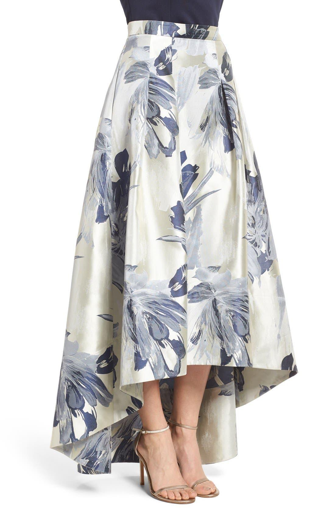 Alternate Image 5  - Eliza J High/Low Ball Skirt