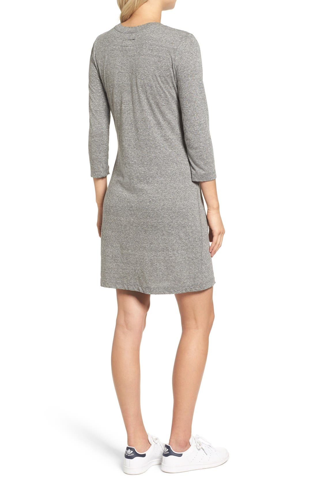 T-Shirt Dress,                             Alternate thumbnail 2, color,                             Heather Grey
