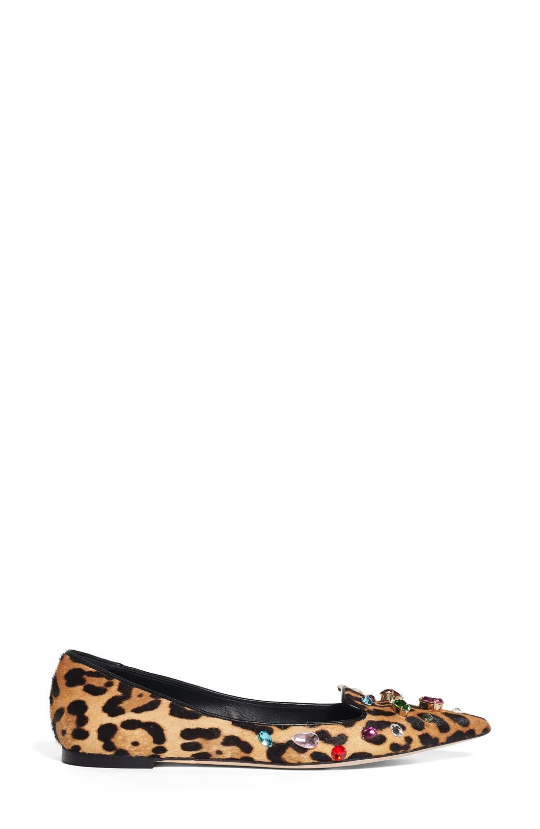 Alternate Image 4  - Dolce&Gabbana Leo Embellished Leopard Print Flat (Women)