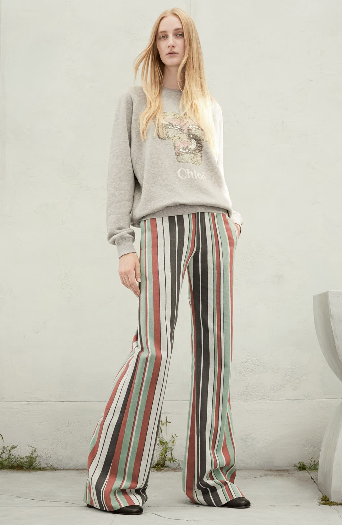 Alternate Image 7  - Chloé Mixed Stripe Wide Leg Pants