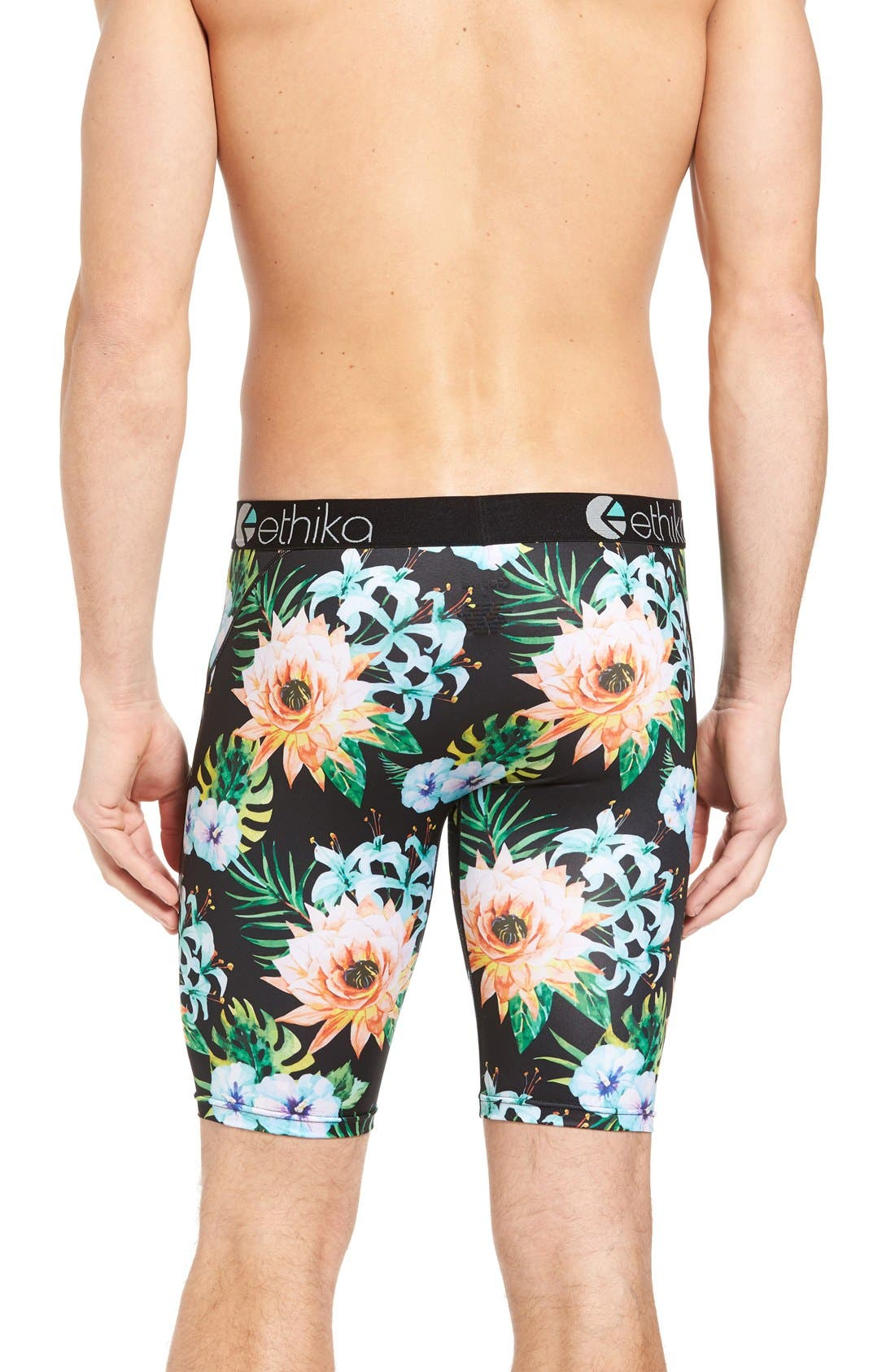 Alternate Image 2  - Ethika Garden Stretch Cotton Boxer Briefs
