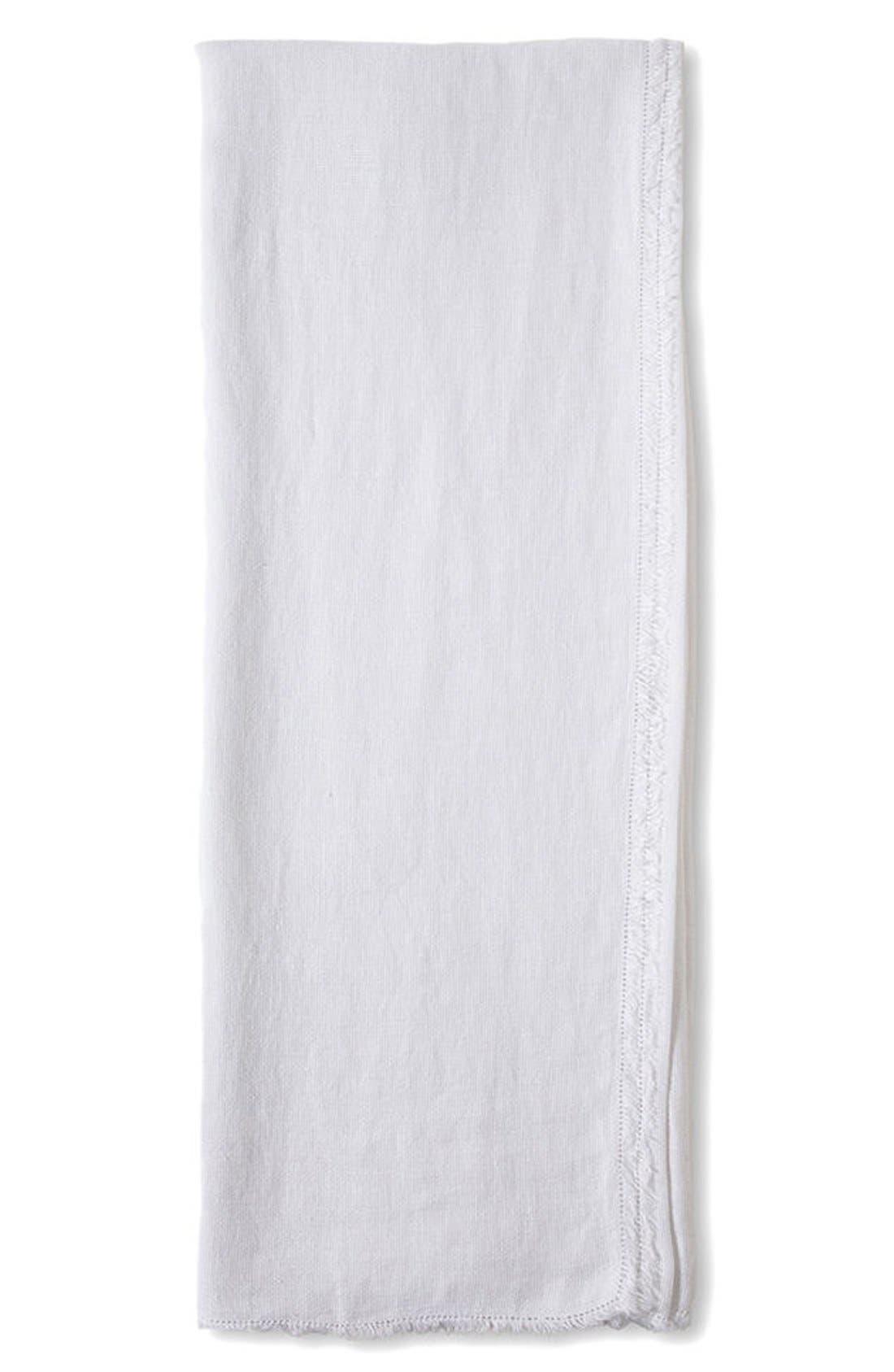 Carmel Oversize Throw Blanket,                             Main thumbnail 1, color,                             White