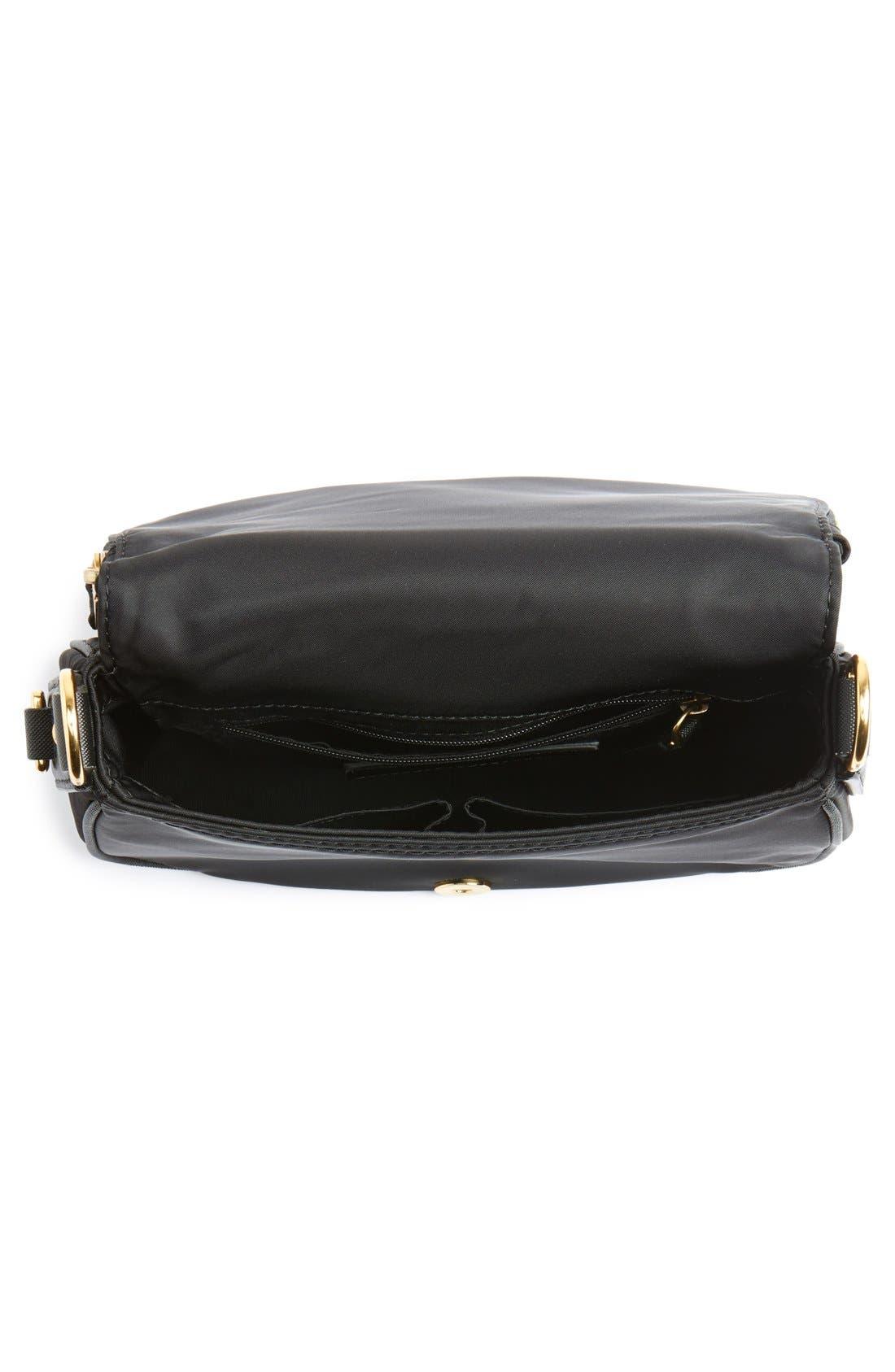 Trooper - Small Nomad Nylon Crossbody Bag,                             Alternate thumbnail 4, color,                             Black
