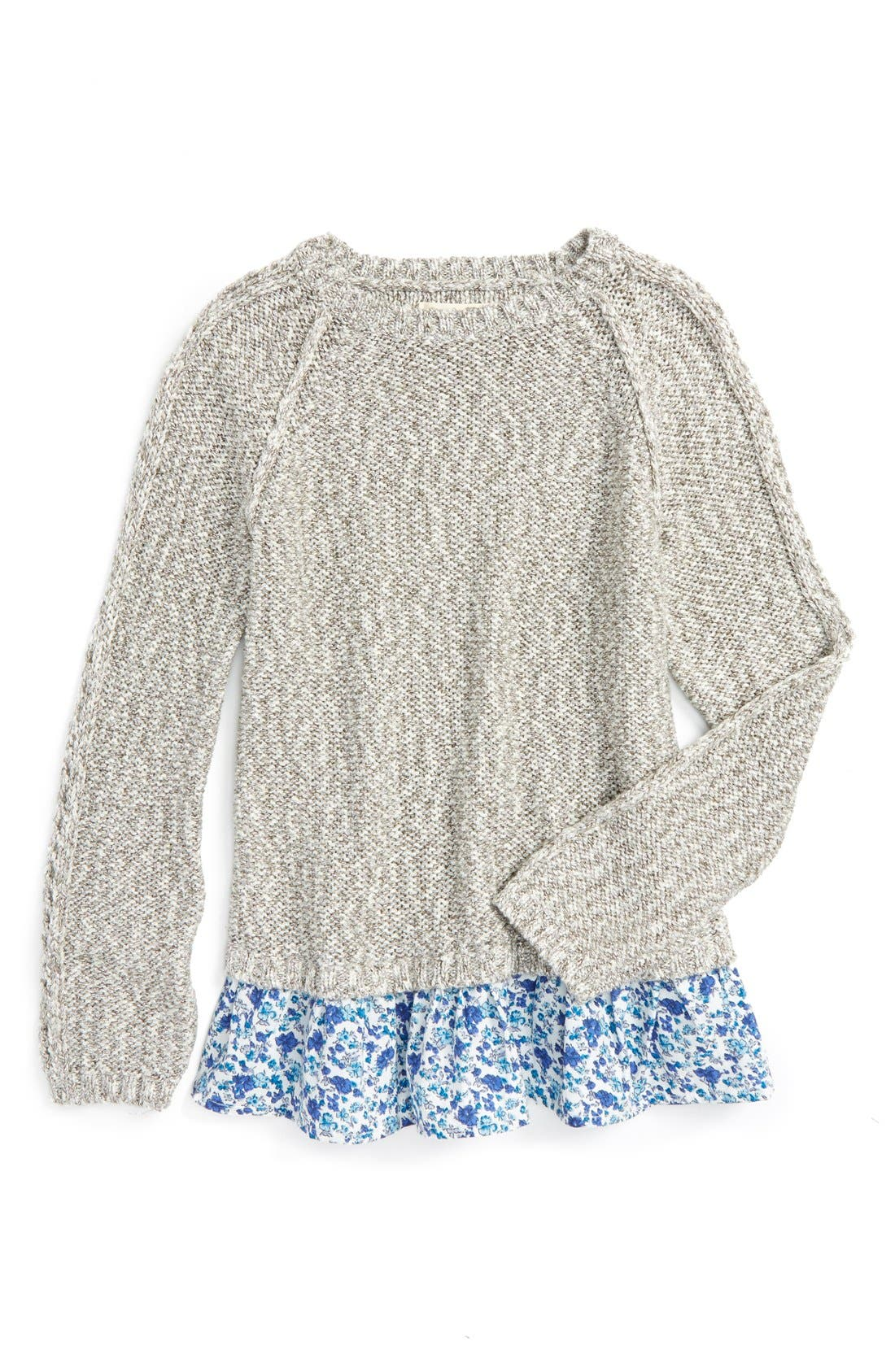 Alternate Image 1 Selected - Tucker + Tate Sparkle Ruffle Sweater (Toddler Girls, Little Girls & Big Girls)