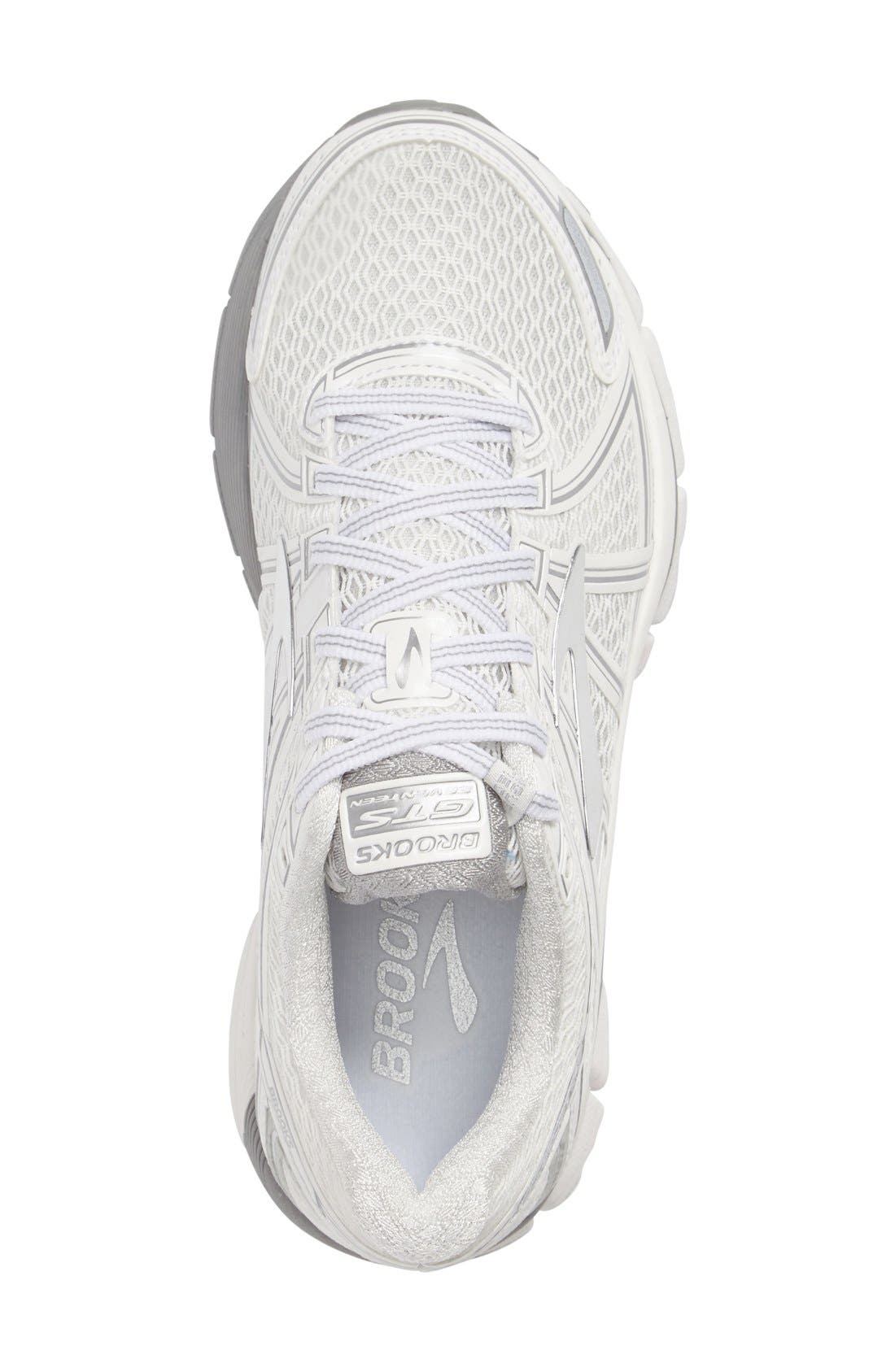 Adrenaline GTS 17 Running Shoe,                             Alternate thumbnail 3, color,                             White/ Silver
