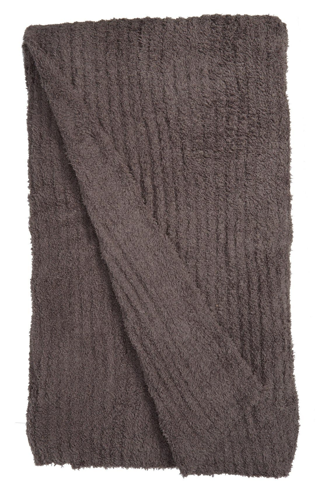 'CozyChic<sup>®</sup>' Ribbed Blanket,                         Main,                         color, Charcoal