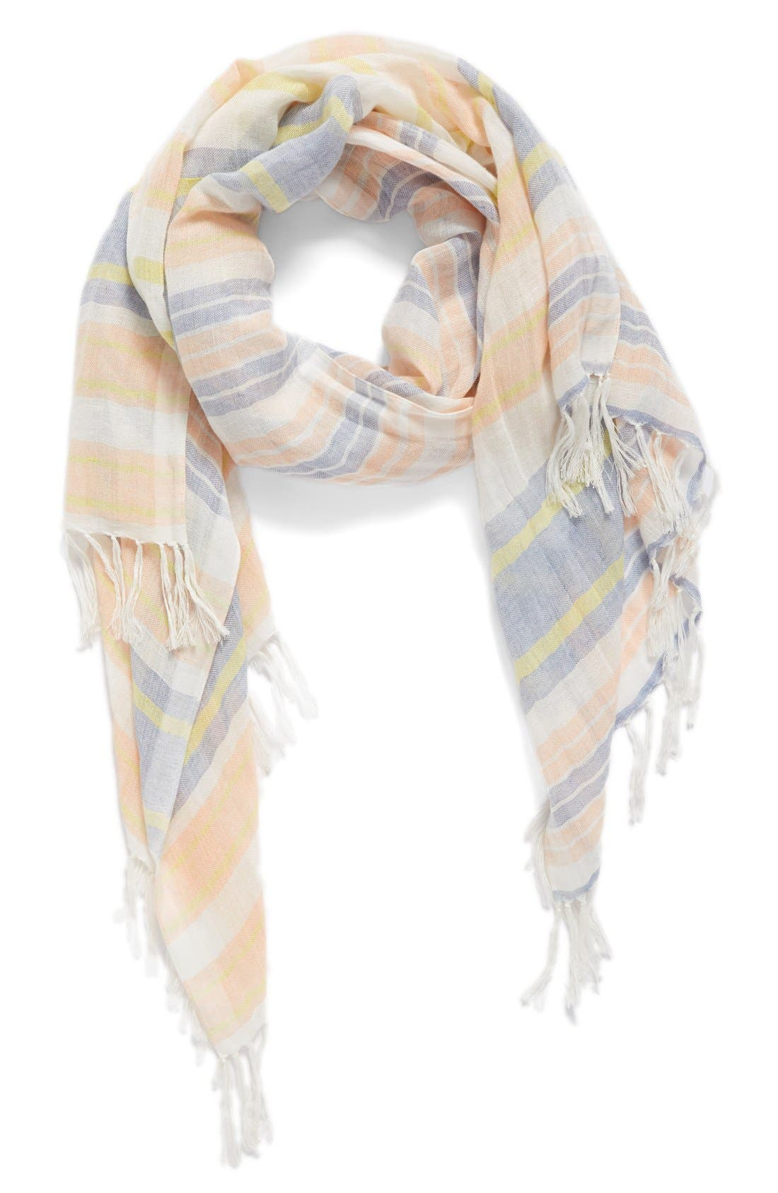 CASLON<SUP>®</SUP> Stripe Linen Scarf