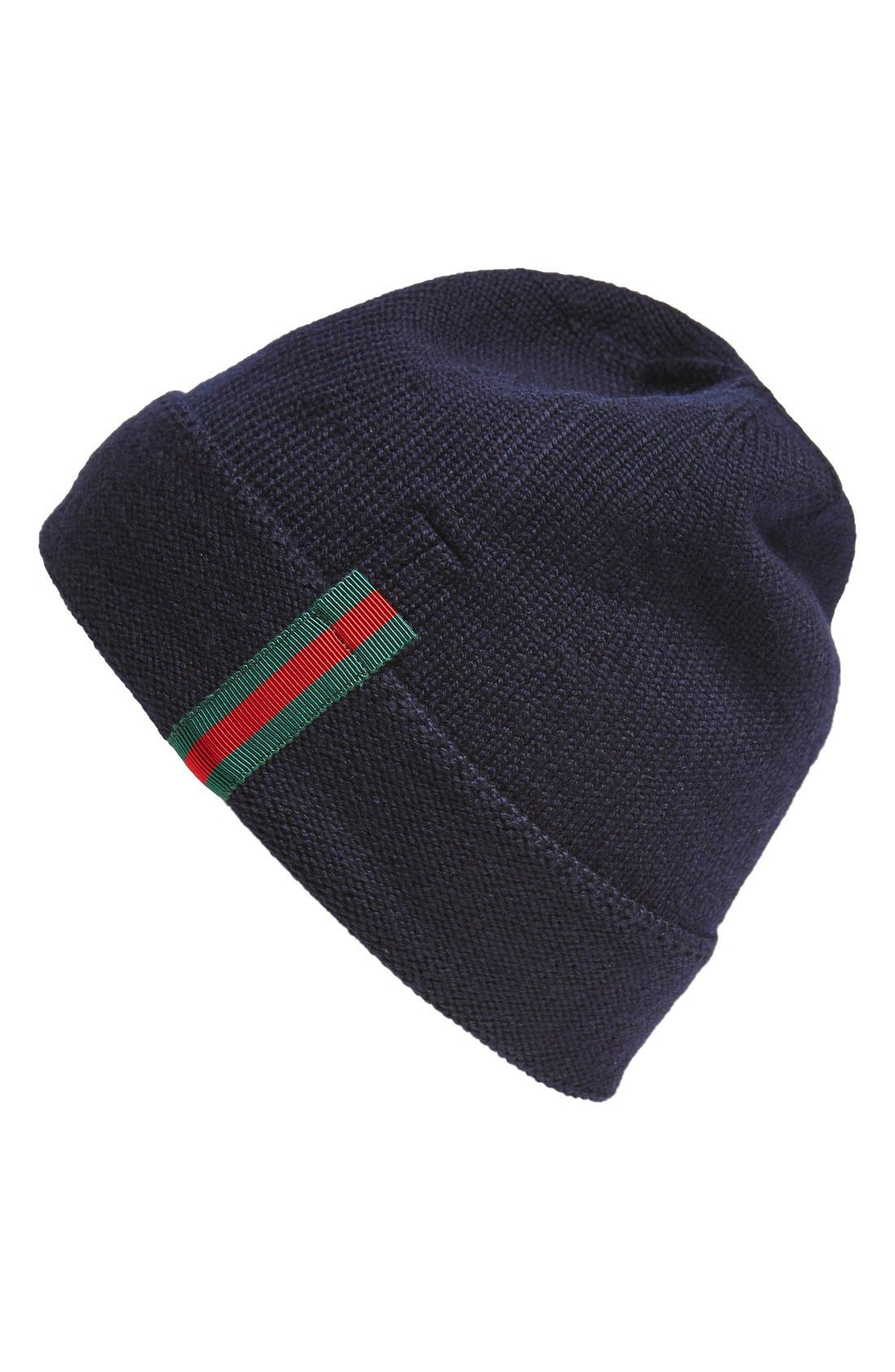 Wool Beanie,                         Main,                         color, Navy