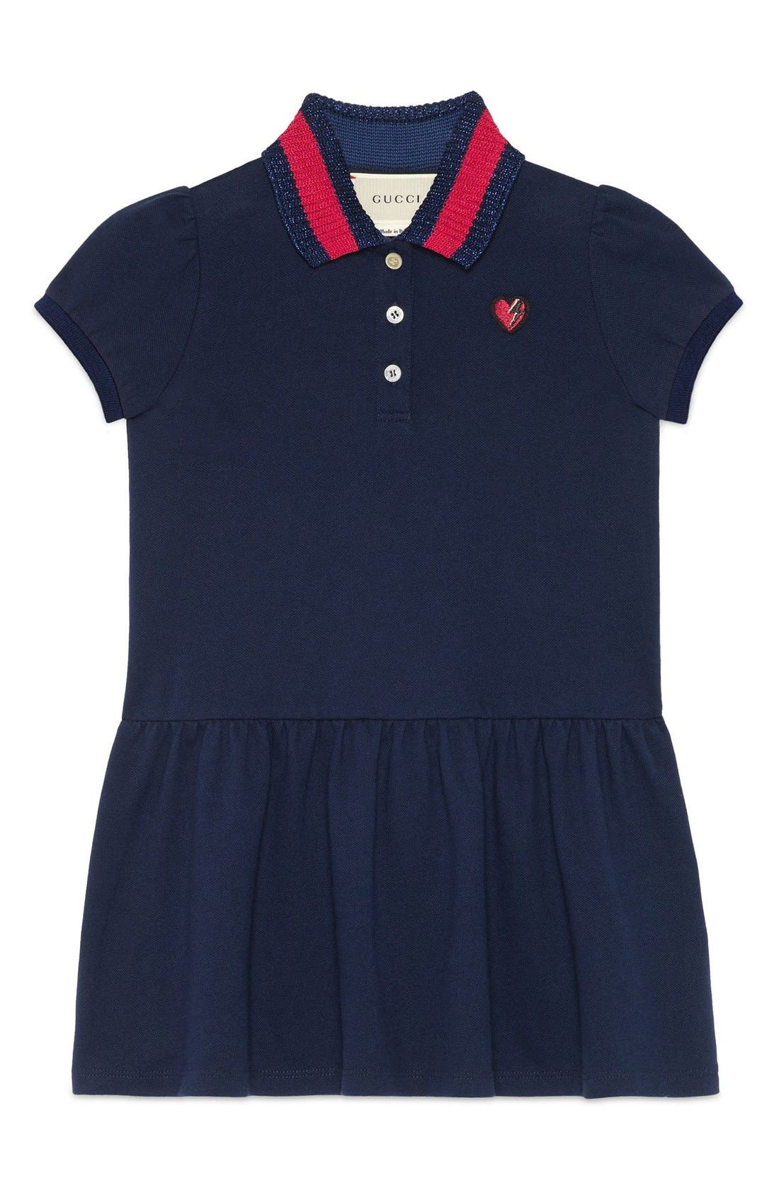 Alternate Image 1 Selected - Gucci Embroidered Dress (Little Girls & Big Girls)