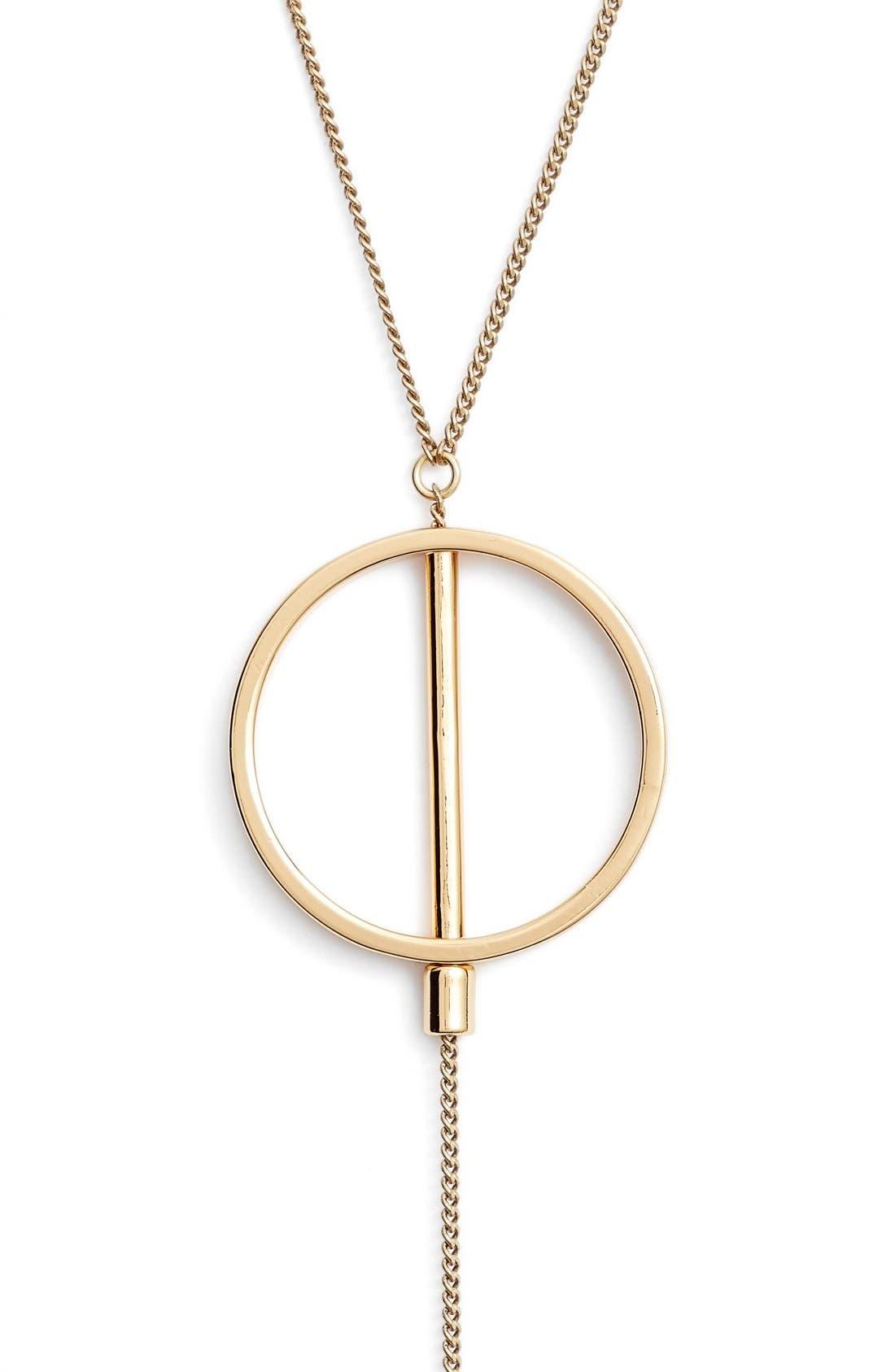 Rhine Lariat Necklace,                         Main,                         color, Gold