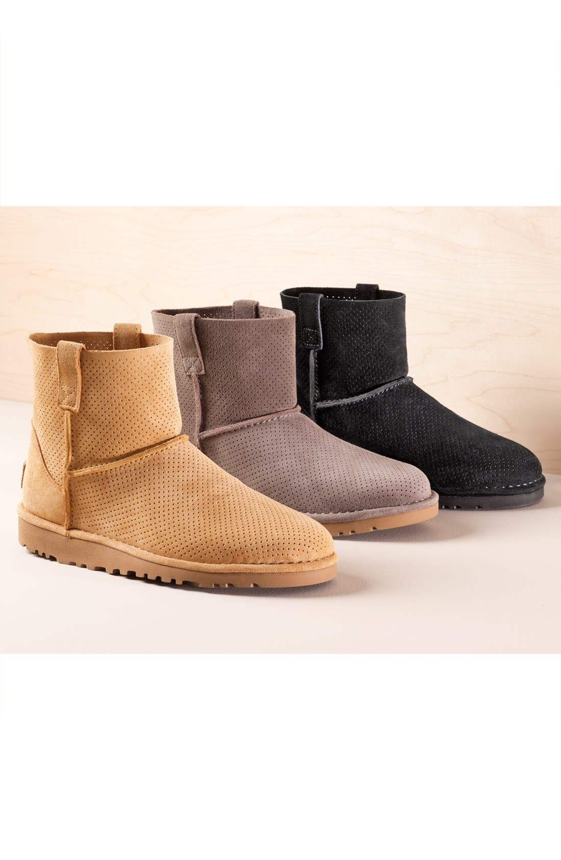 Alternate Image 5  - UGG® Classic Unlined Mini Perf Boot (Women)