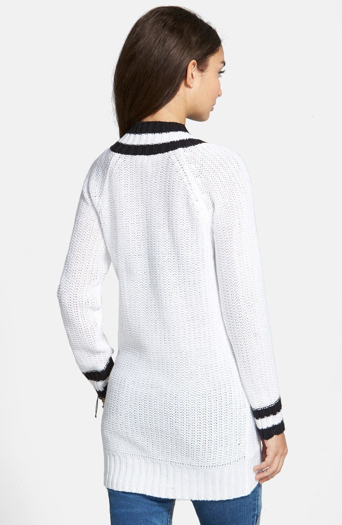 Alternate Image 2  - Derek Heart Deep V-Neck Sweater (Juniors)