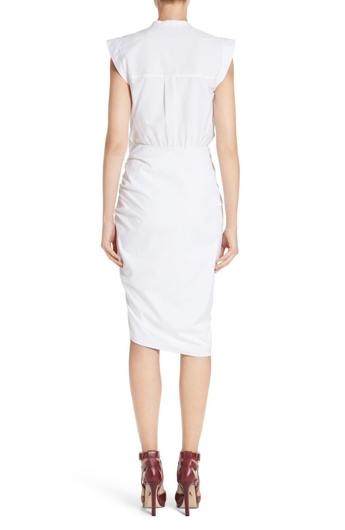 Ruched Shirtdress,                             Alternate thumbnail 2, color,                             White