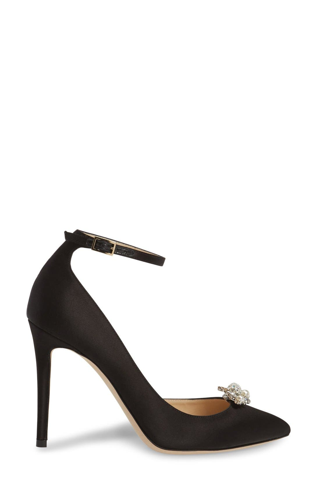 Alternate Image 4  - Jimmy Choo Rose d'Orsay Pump with Jeweled Clip (Women)