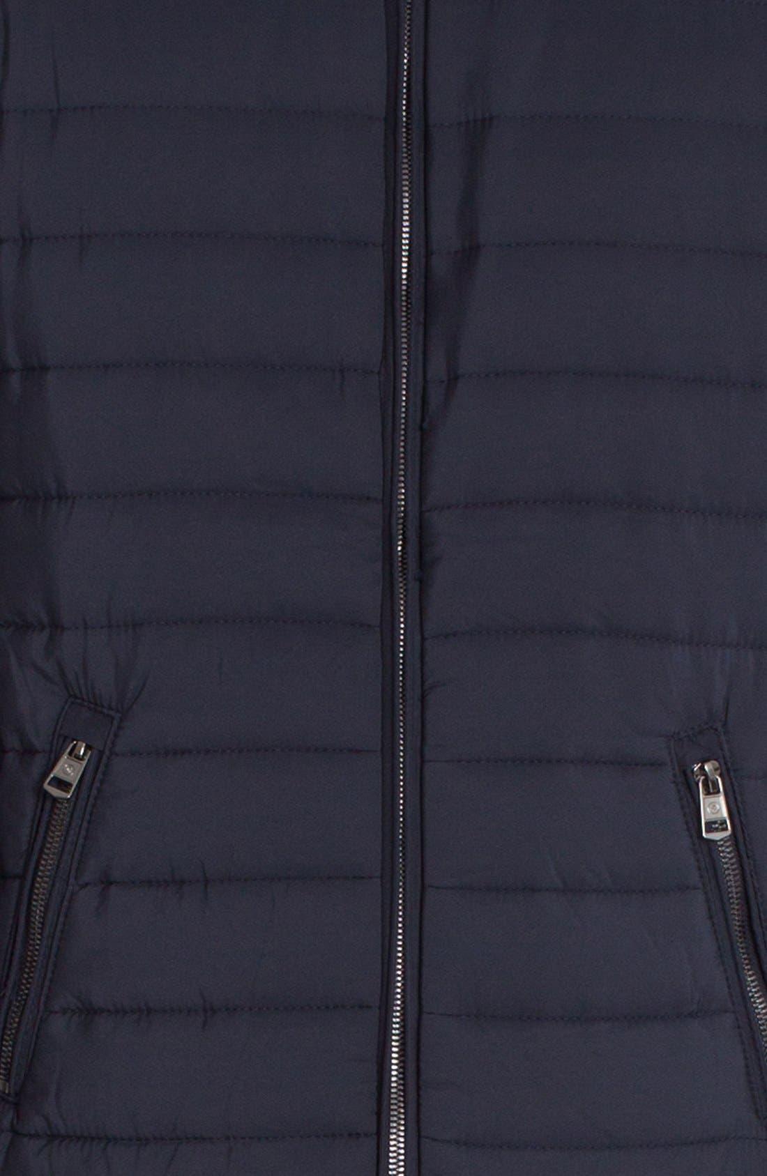 Tristan Mixed Media Jacket,                             Alternate thumbnail 5, color,                             Navy