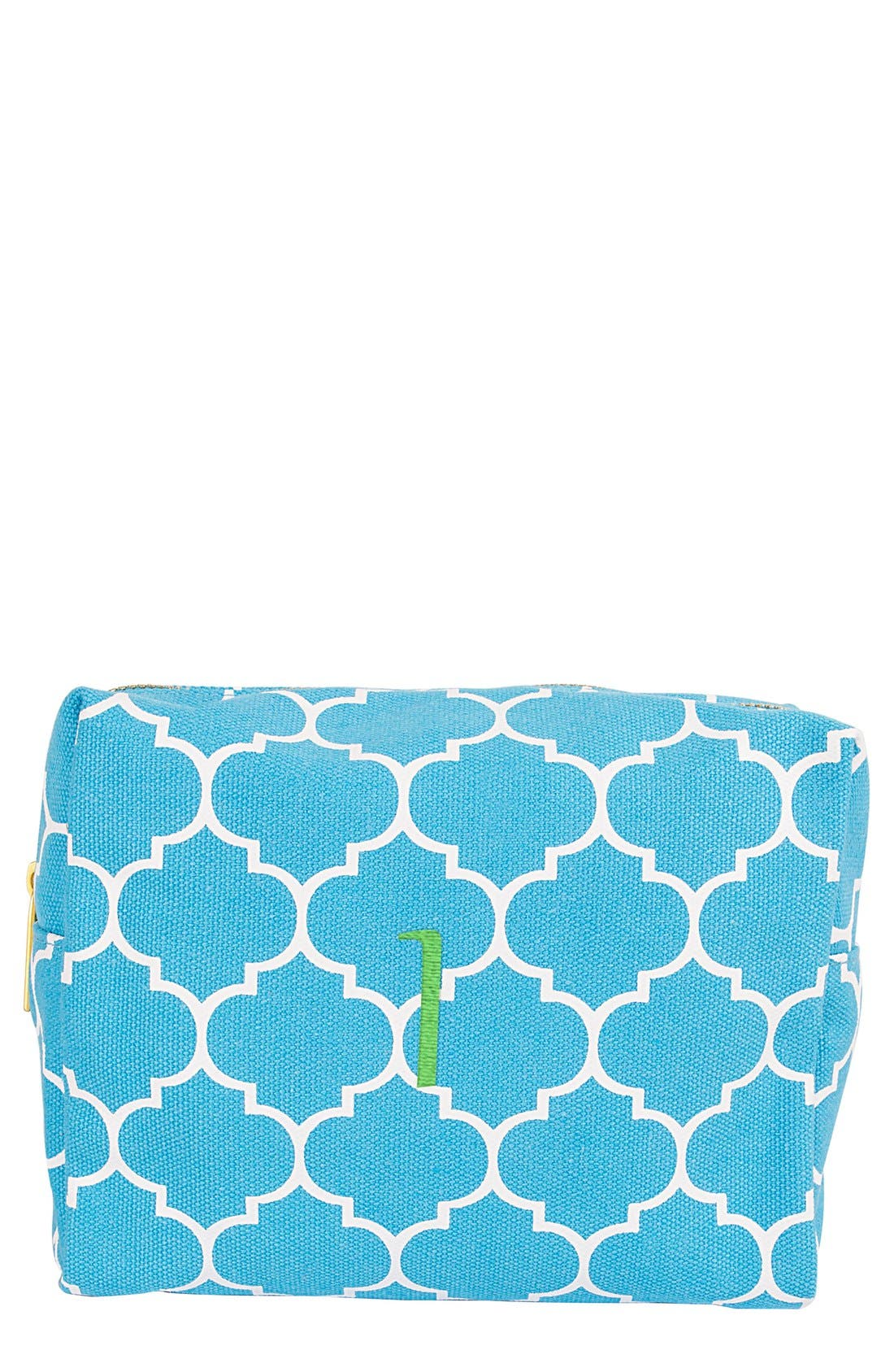 Alternate Image 1 Selected - Cathy's Concepts Monogram Cosmetics Bag