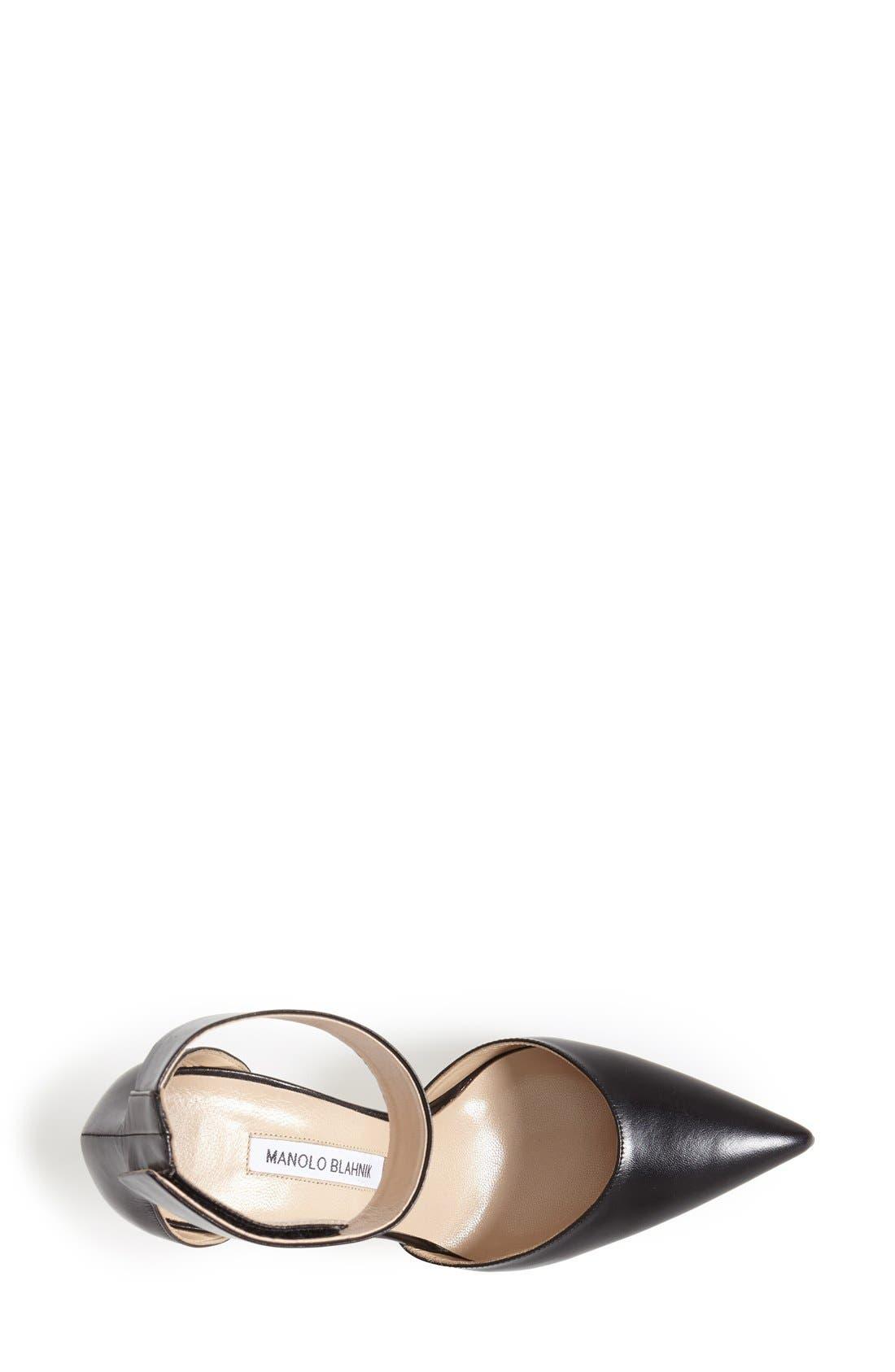 Alternate Image 3  - Manolo Blahnik 'Ollico' Ankle Cuff d'Orsay Pump (Women)