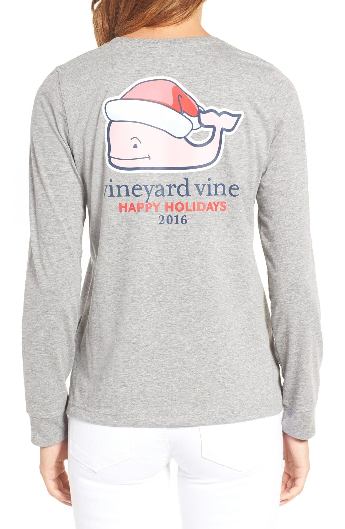 Alternate Image 2  - Vineyard Vines Santa Whale Graphic Tee