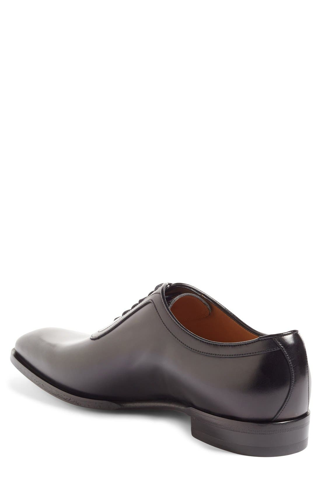 Broadwick Plain Toe Oxford,                             Alternate thumbnail 2, color,                             Nero Leather