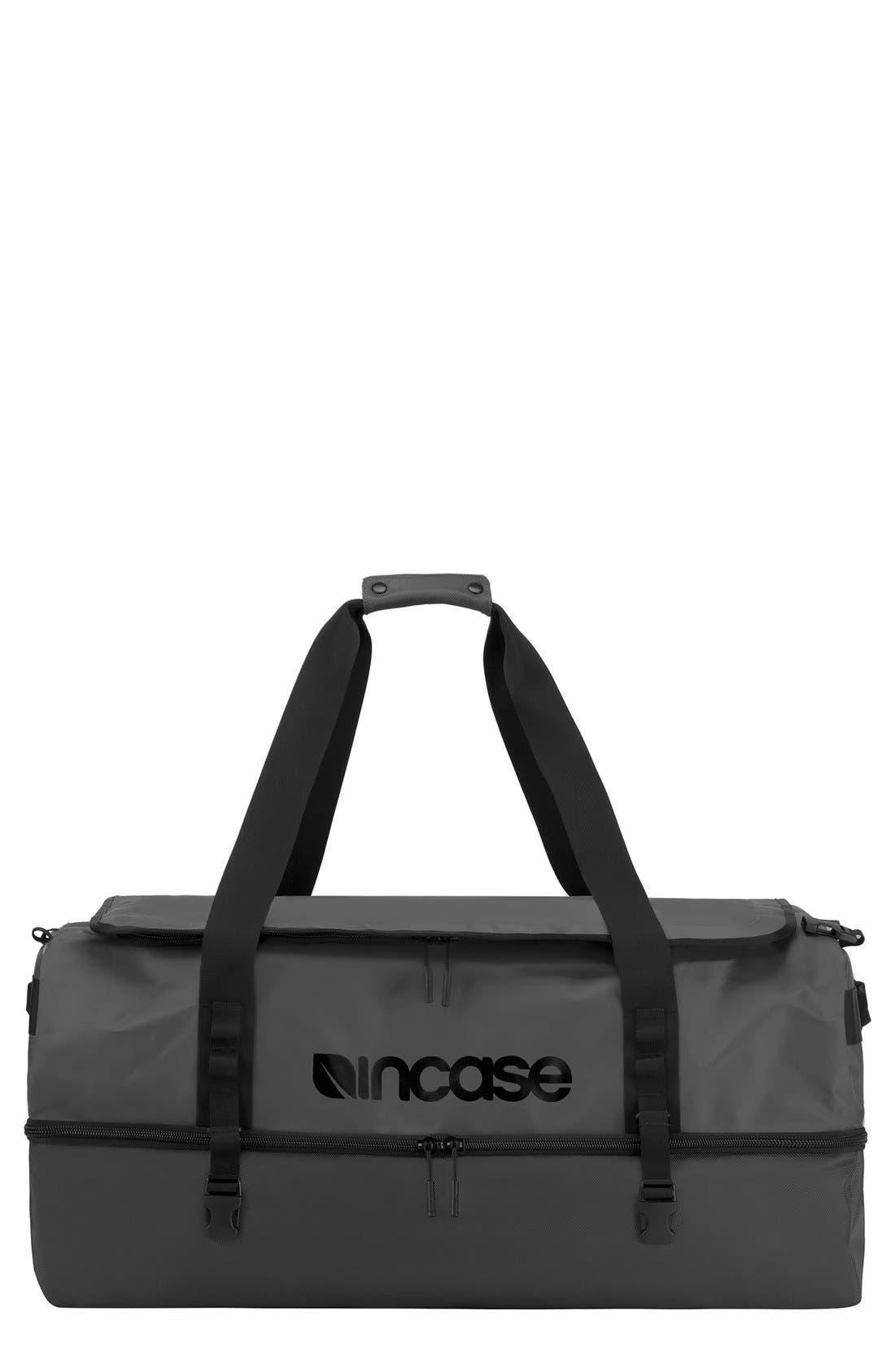 TRACTO Extra Large Split Convertible Duffel Bag,                             Main thumbnail 1, color,                             Black