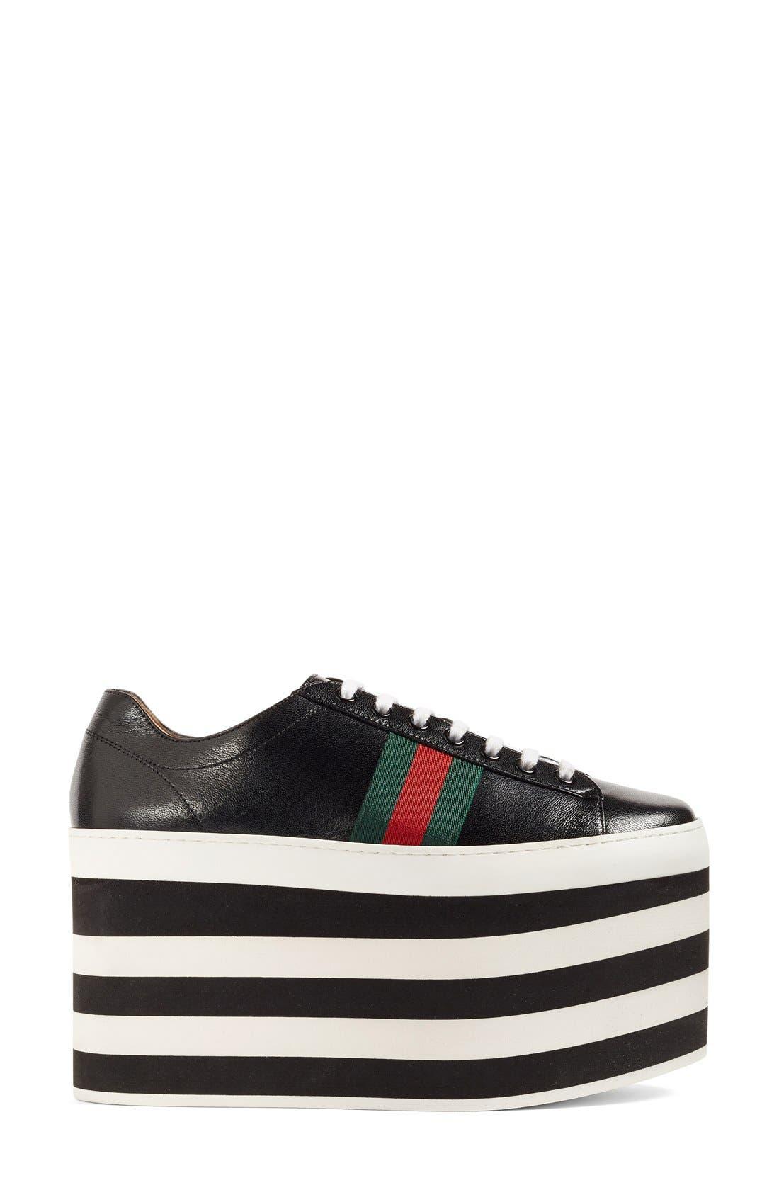 Alternate Image 4  - Gucci Peggy Platform Sneaker (Women)