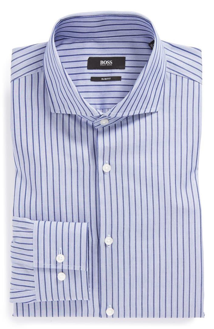 Boss hugo boss 39 jason 39 slim fit stripe dress shirt nordstrom for Hugo boss jason shirt