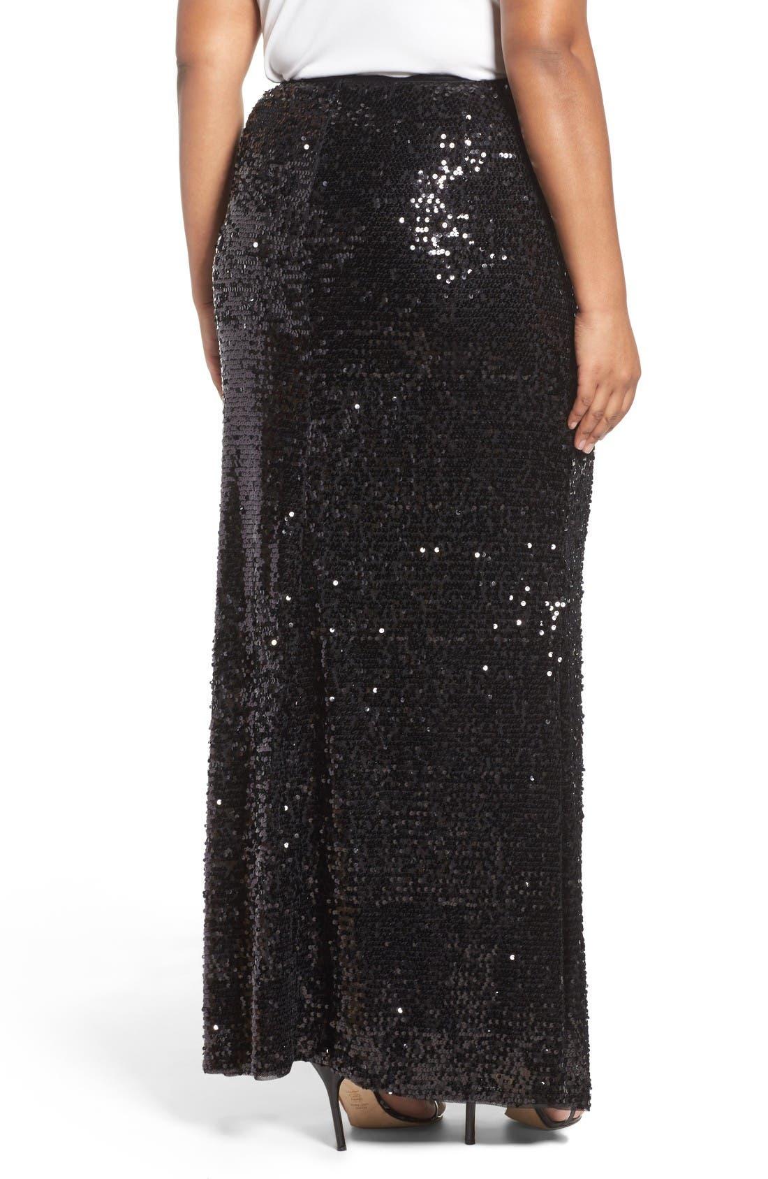 Alternate Image 2  - Adrianna Papell Sequin Skirt (Plus Size)