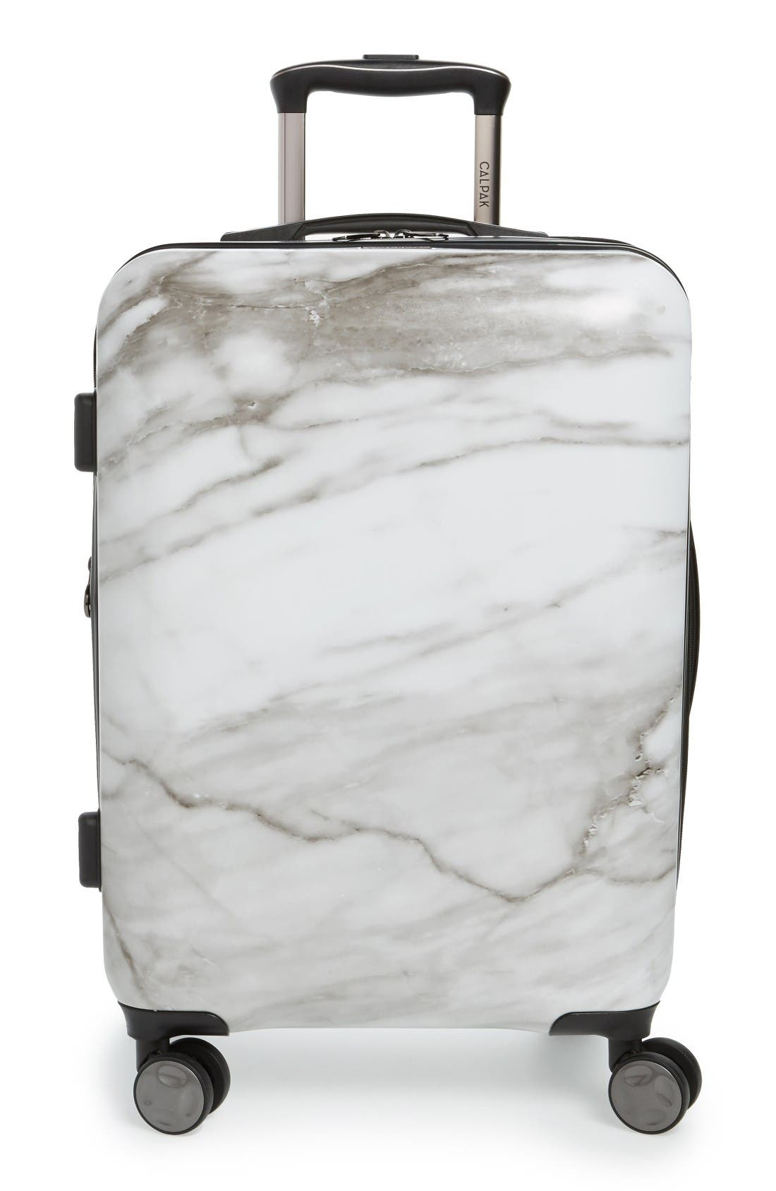 Astyll 22-Inch Rolling Spinner Carry-On,                         Main,                         color, Milk Marble