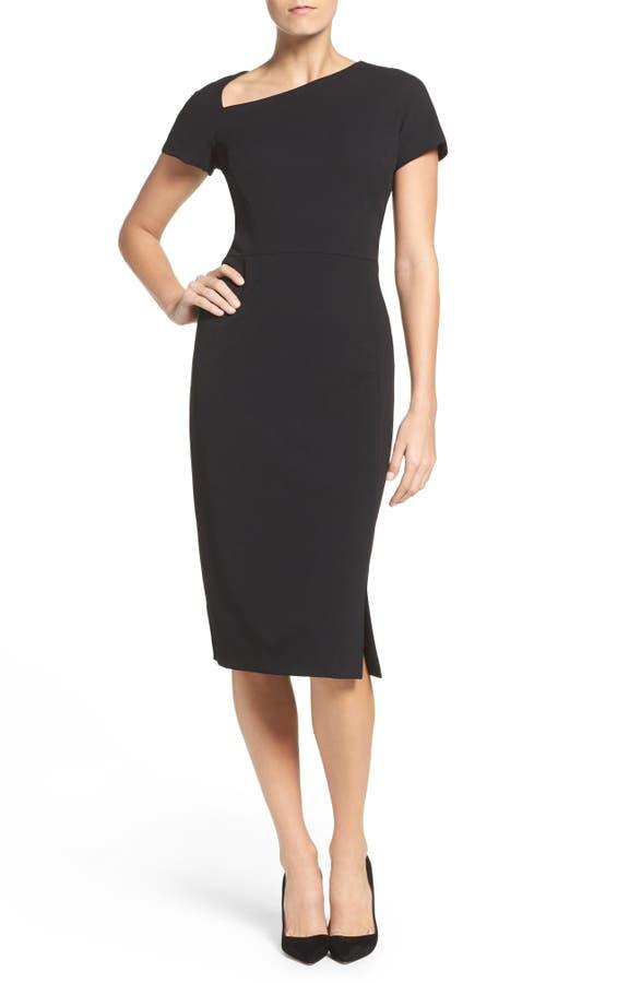 Maggy London Asymmetrical Sheath Dress Regular Petite Nordstrom