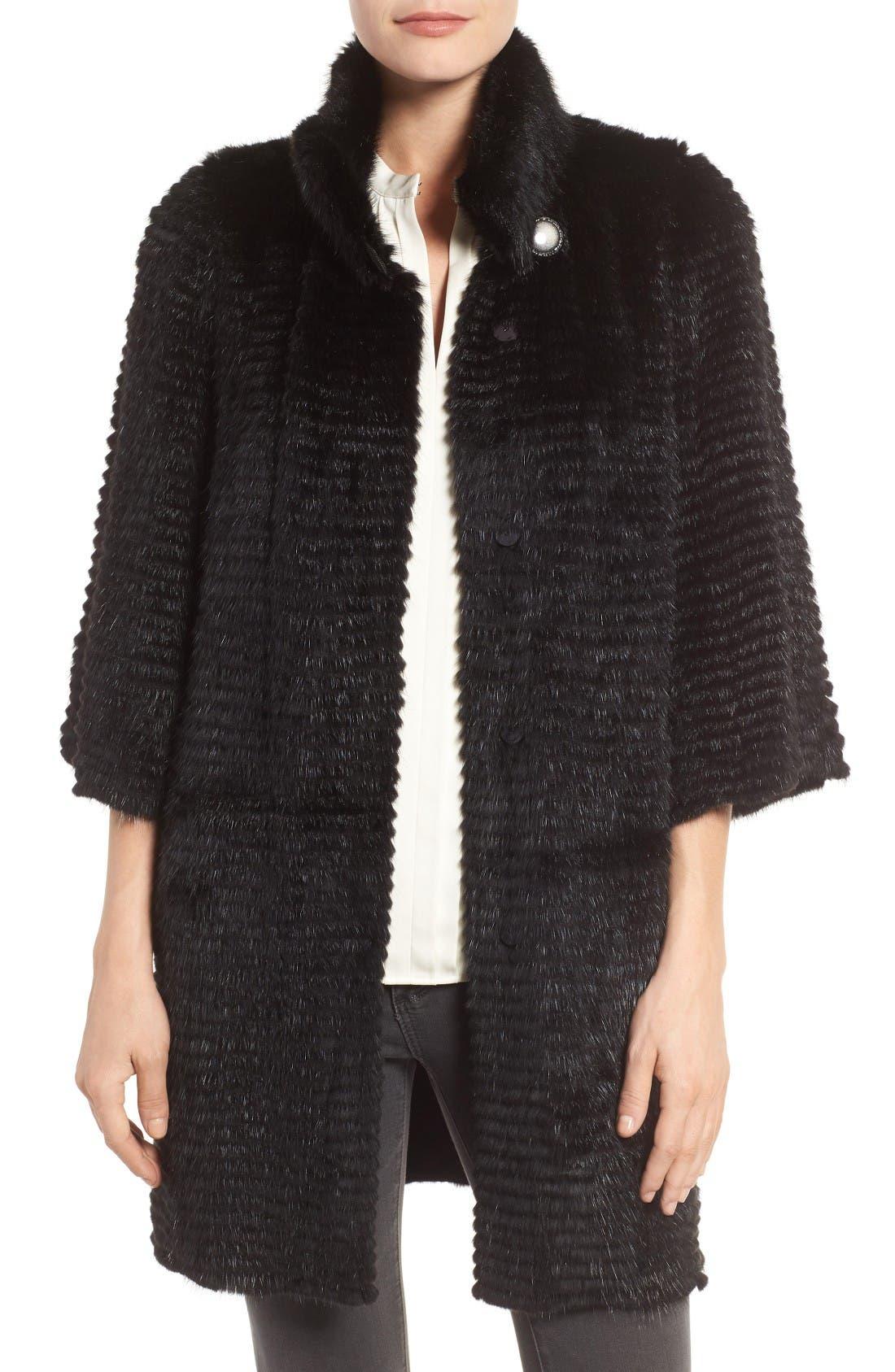 Linda Richards Genuine Mink Fur Jacket