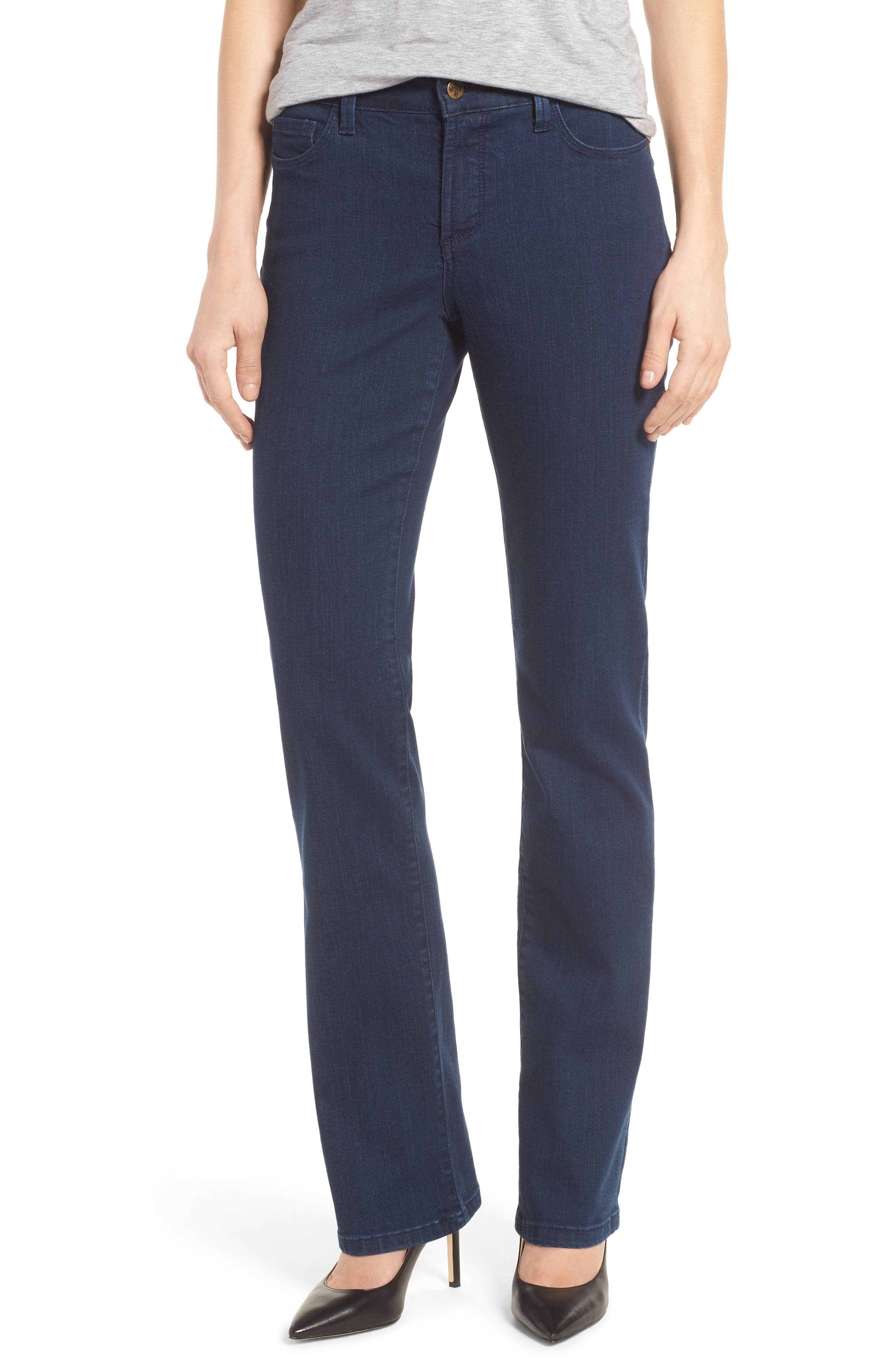 Alternate Image 1 Selected - NYDJ Marilyn Stretch Straight Leg Jeans (Highpoint)
