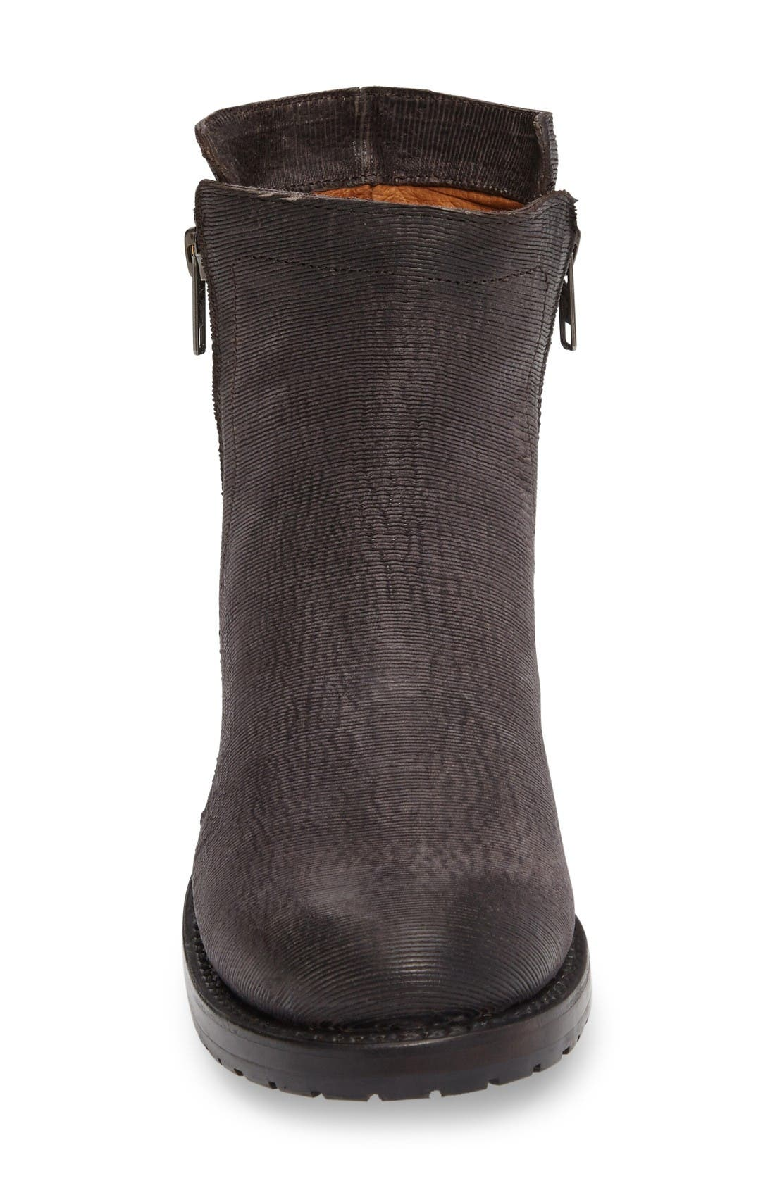 Alternate Image 3  - Frye Natalie Textured Double Zip Bootie (Women)