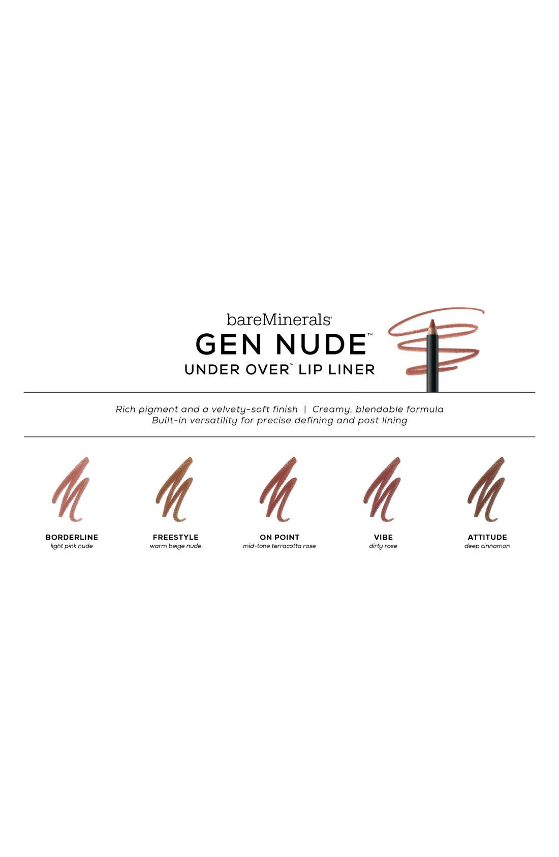 Gen Nude<sup>™</sup> Under Over Lip Liner,                             Alternate thumbnail 2, color,