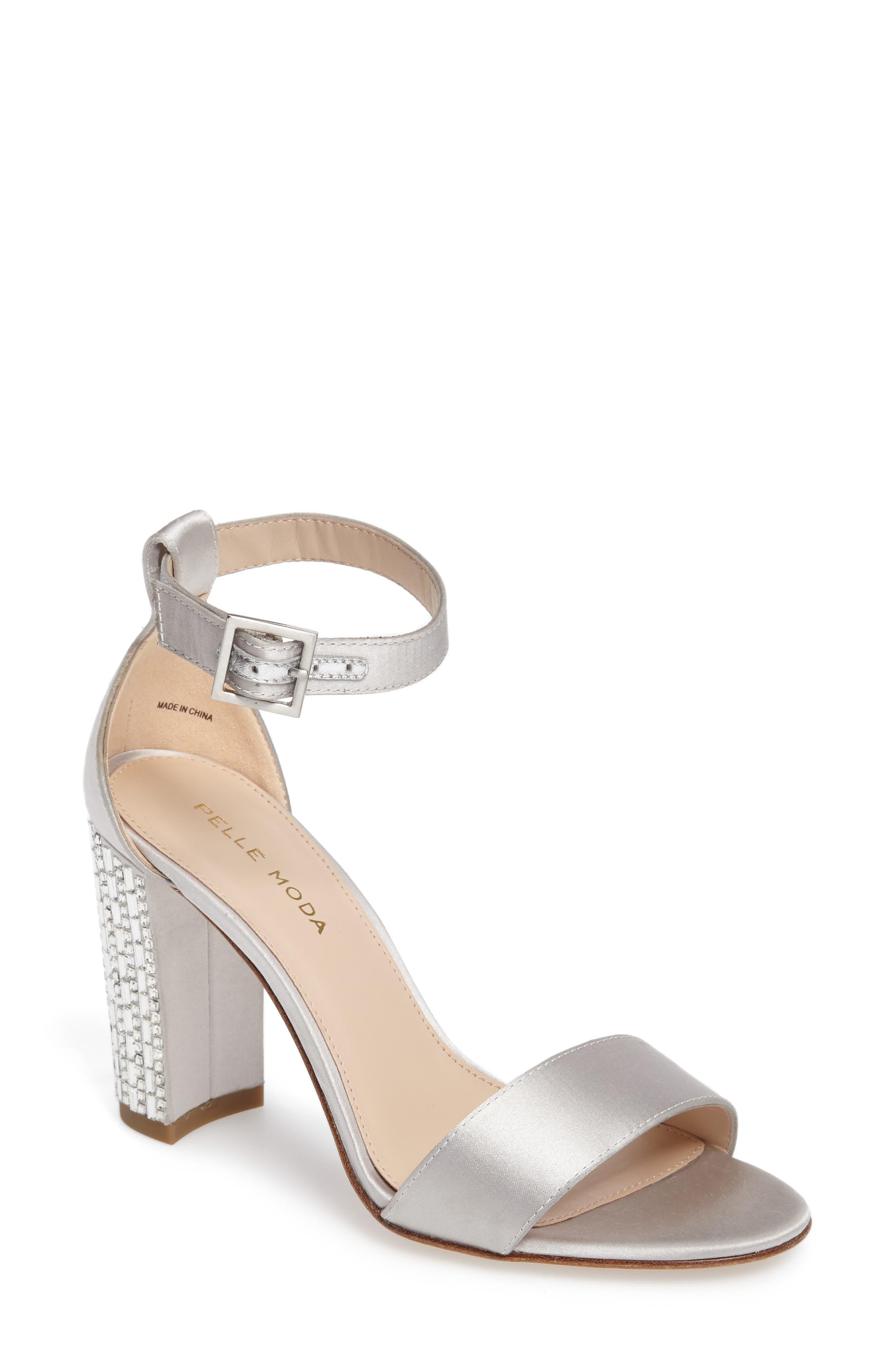 Main Image - Pelle Moda Bonnie 3 Embellished Ankle Strap Sandal (Women)