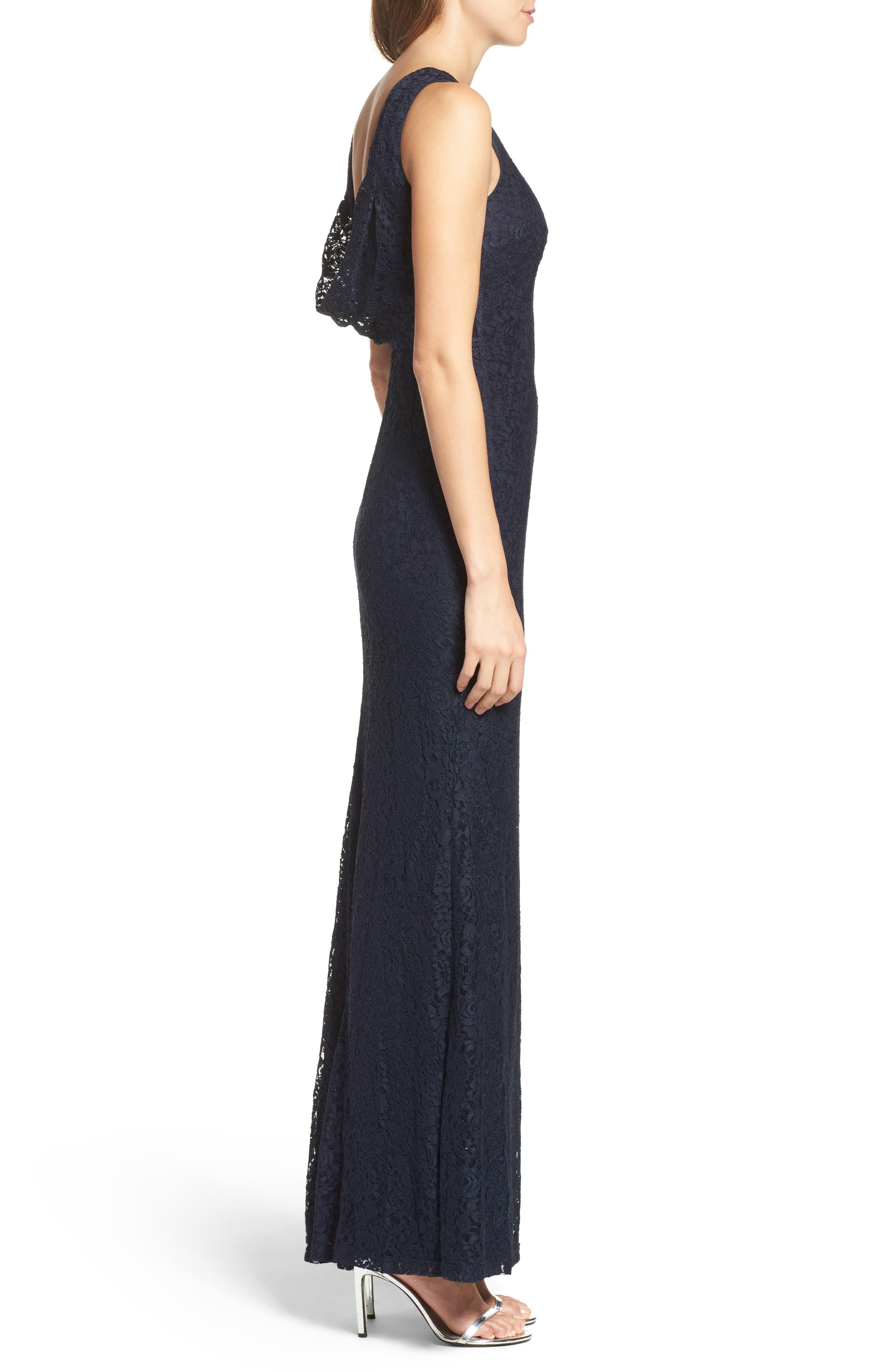 Alternate Image 3  - Lulus Cowl Back Lace Mermaid Gown