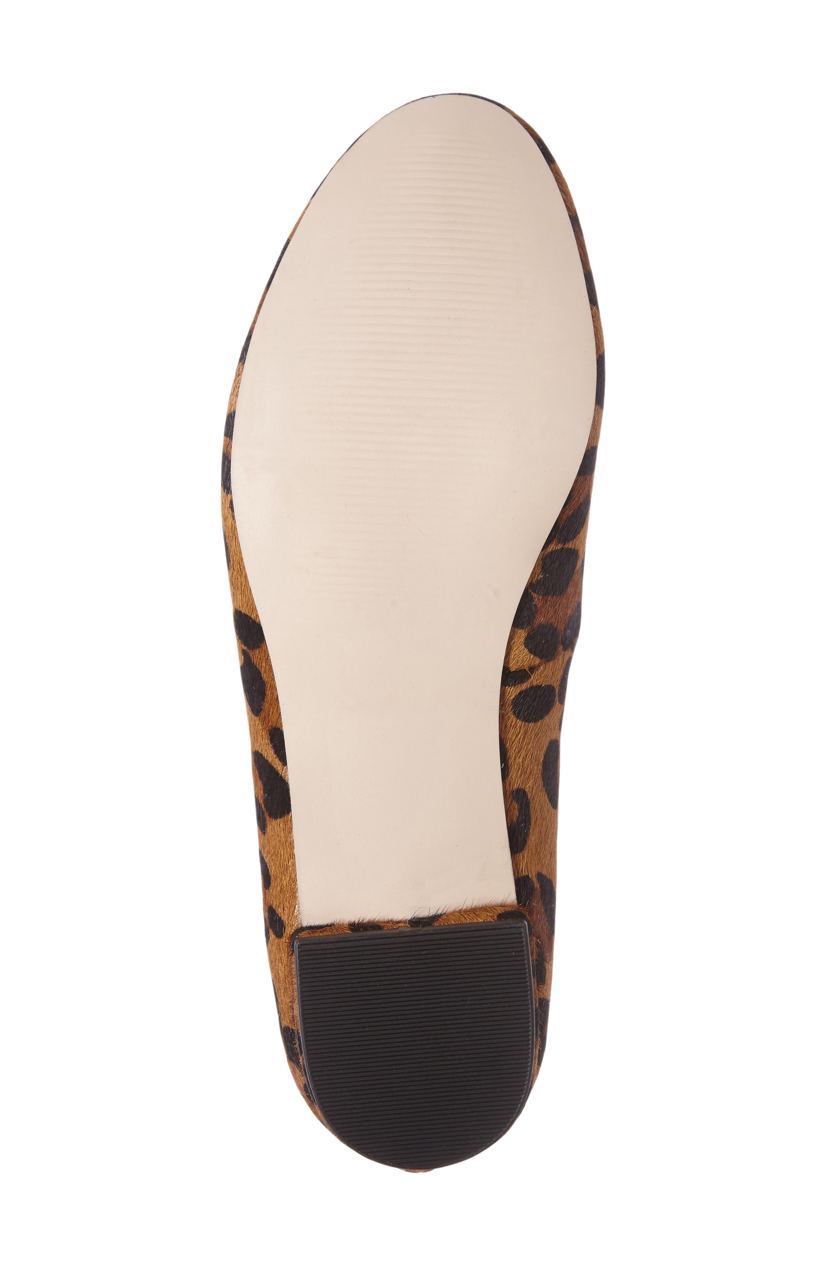 Nitsa Genuine Calf Hair Loafer,                             Alternate thumbnail 4, color,                             Leopard