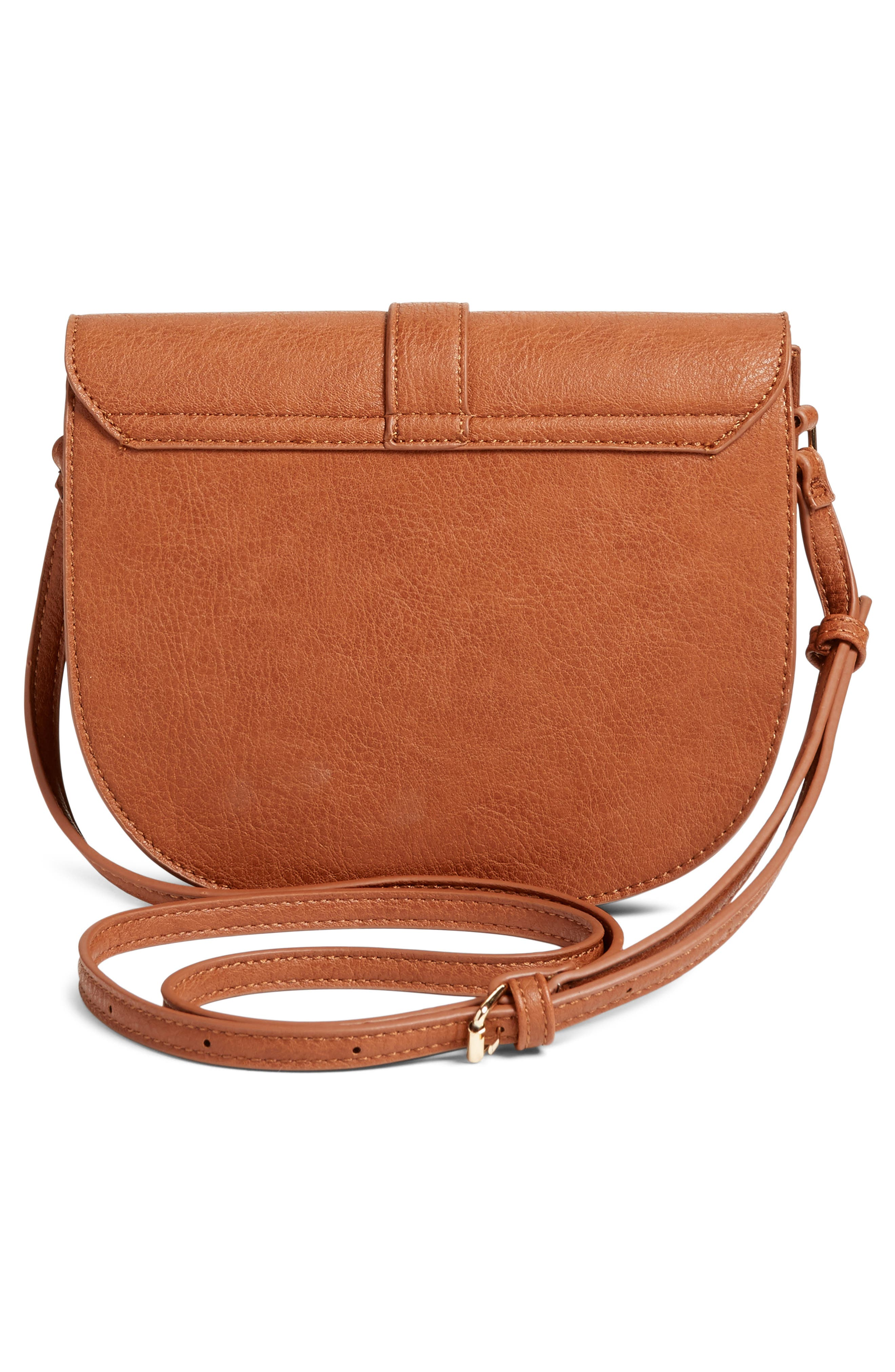 Alternate Image 3  - Emperia Faux Leather Saddle Bag (Special Purchase)