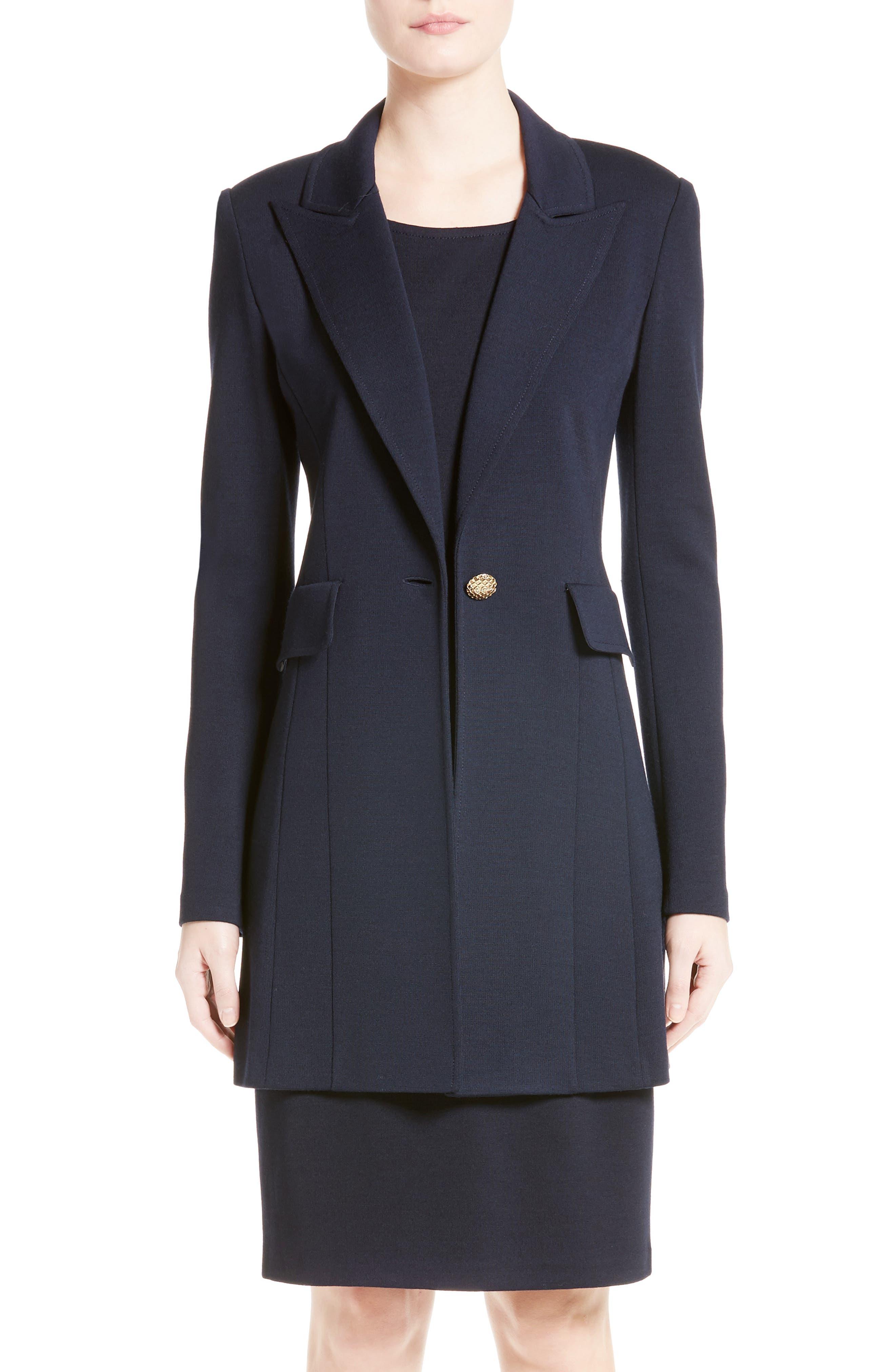 Milano Knit Blazer,                         Main,                         color, Navy