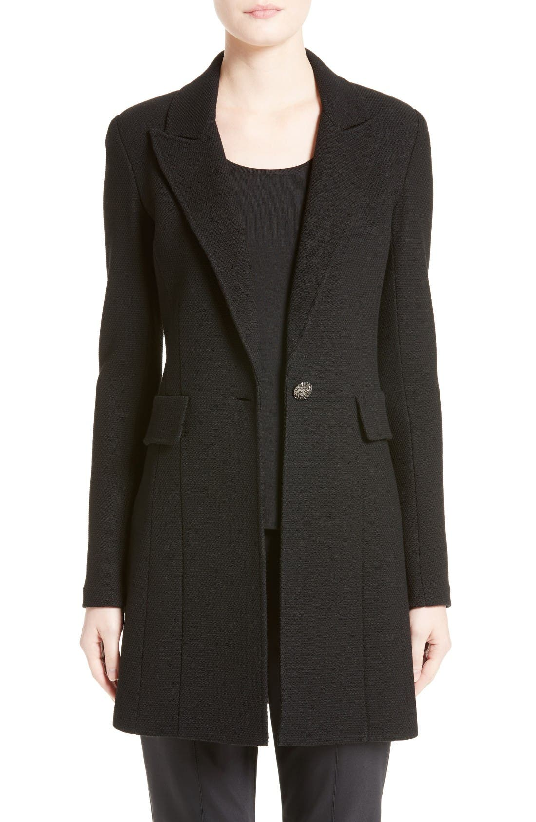 Main Image - St. John Collection Micro Bouclé Knit Blazer