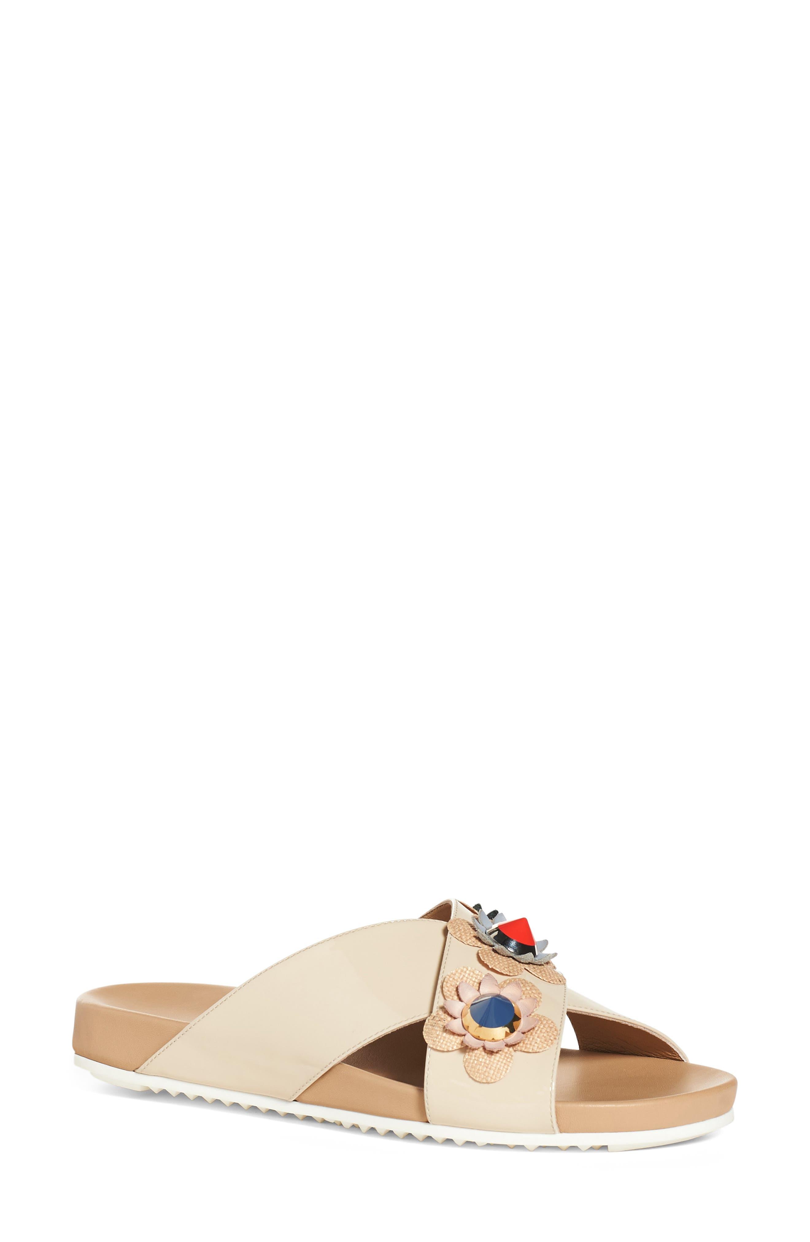 Alternate Image 1 Selected - Fendi Flowerland Slide Sandal (Women)